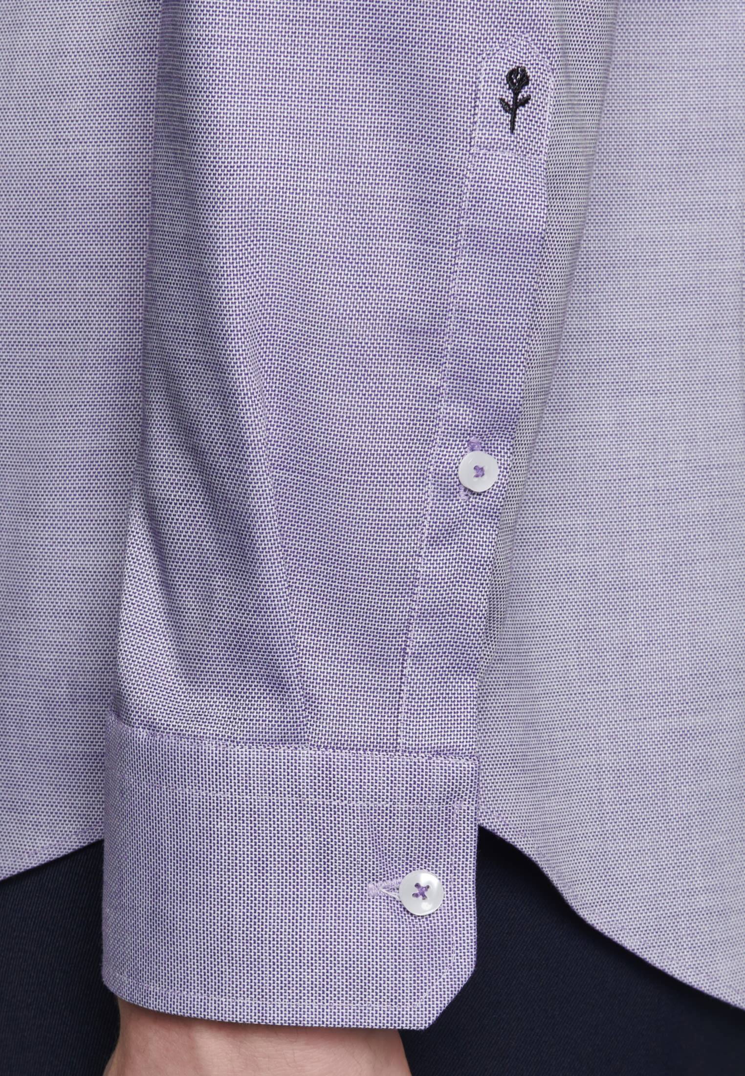 Non-iron Structure Business Shirt in Shaped with Kent-Collar in Purple |  Seidensticker Onlineshop