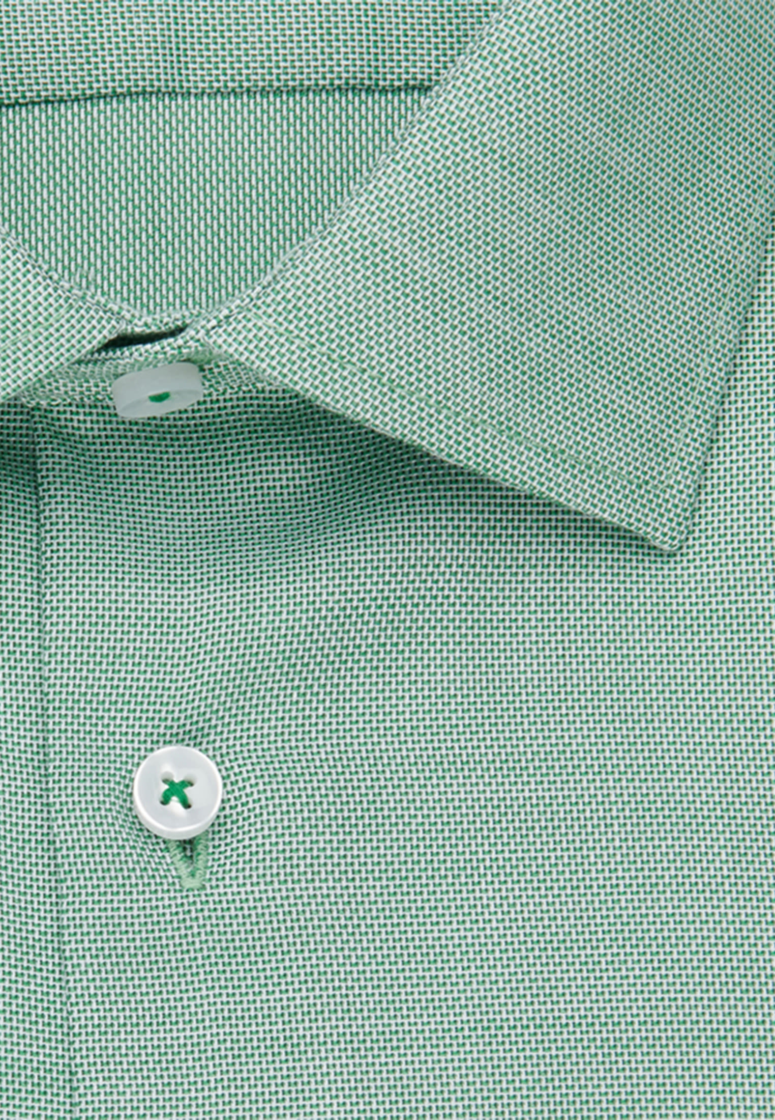 Bügelfreies Struktur Business Hemd in Shaped mit Kentkragen in Grün |  Seidensticker Onlineshop