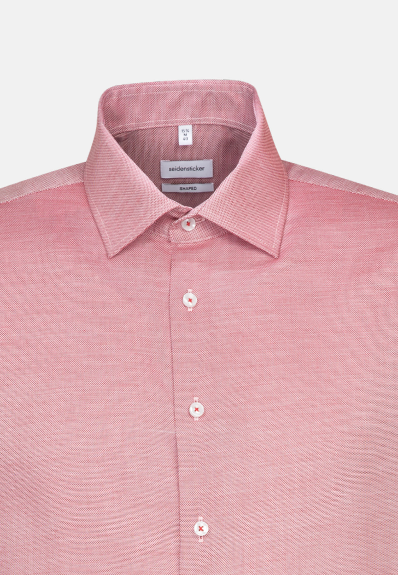 Bügelfreies Struktur Business Hemd in Tailored mit Kentkragen in rot |  Seidensticker Onlineshop