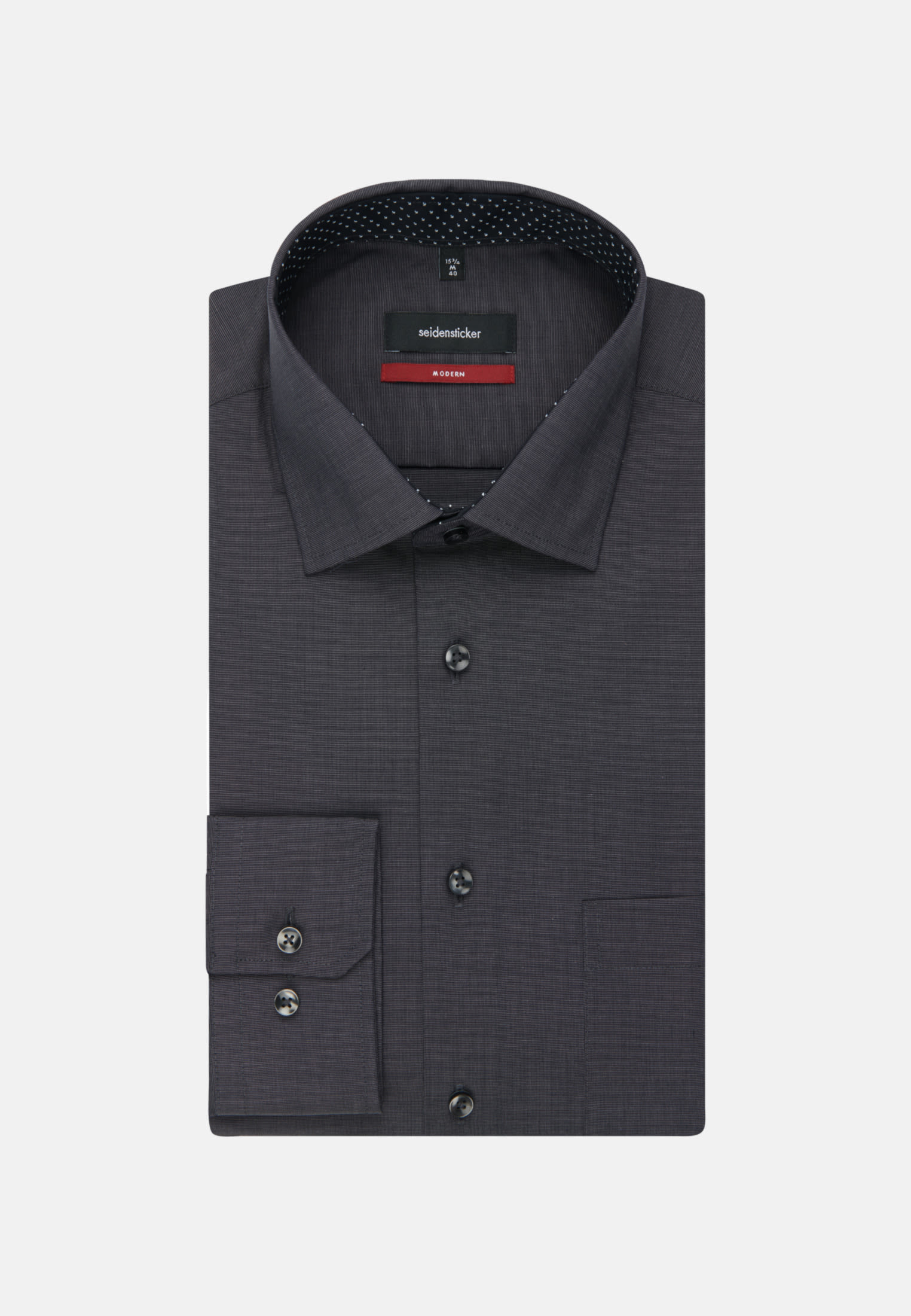 Non-iron Fil a fil Business Shirt in Regular with Kent-Collar in Grey |  Seidensticker Onlineshop