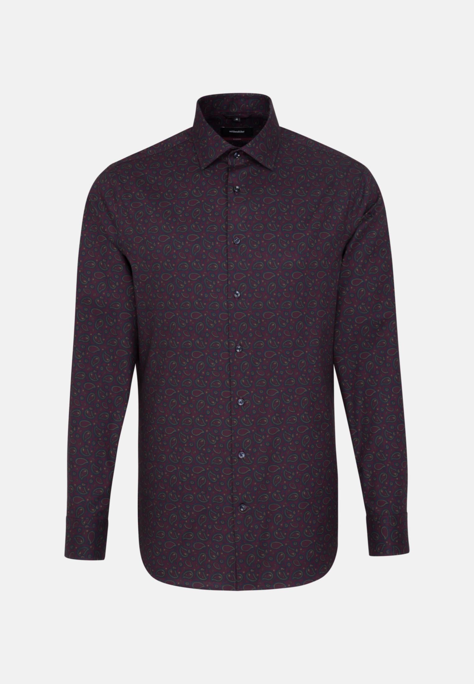 Bügelleichtes Twill Business Hemd in Modern mit Kentkragen in bordeaux |  Seidensticker Onlineshop