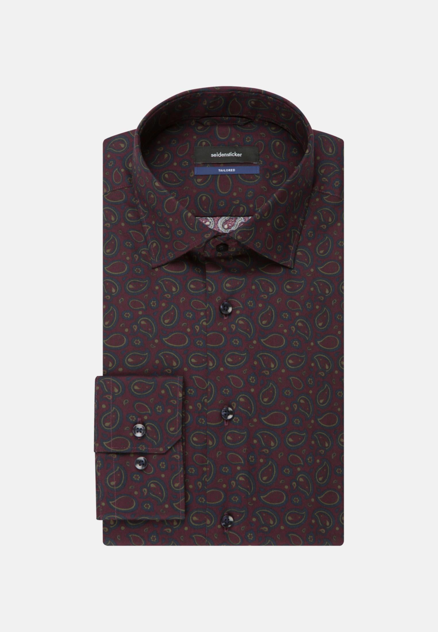 Bügelleichtes Twill Business Hemd in Tailored mit Kentkragen in bordeaux    Seidensticker Onlineshop