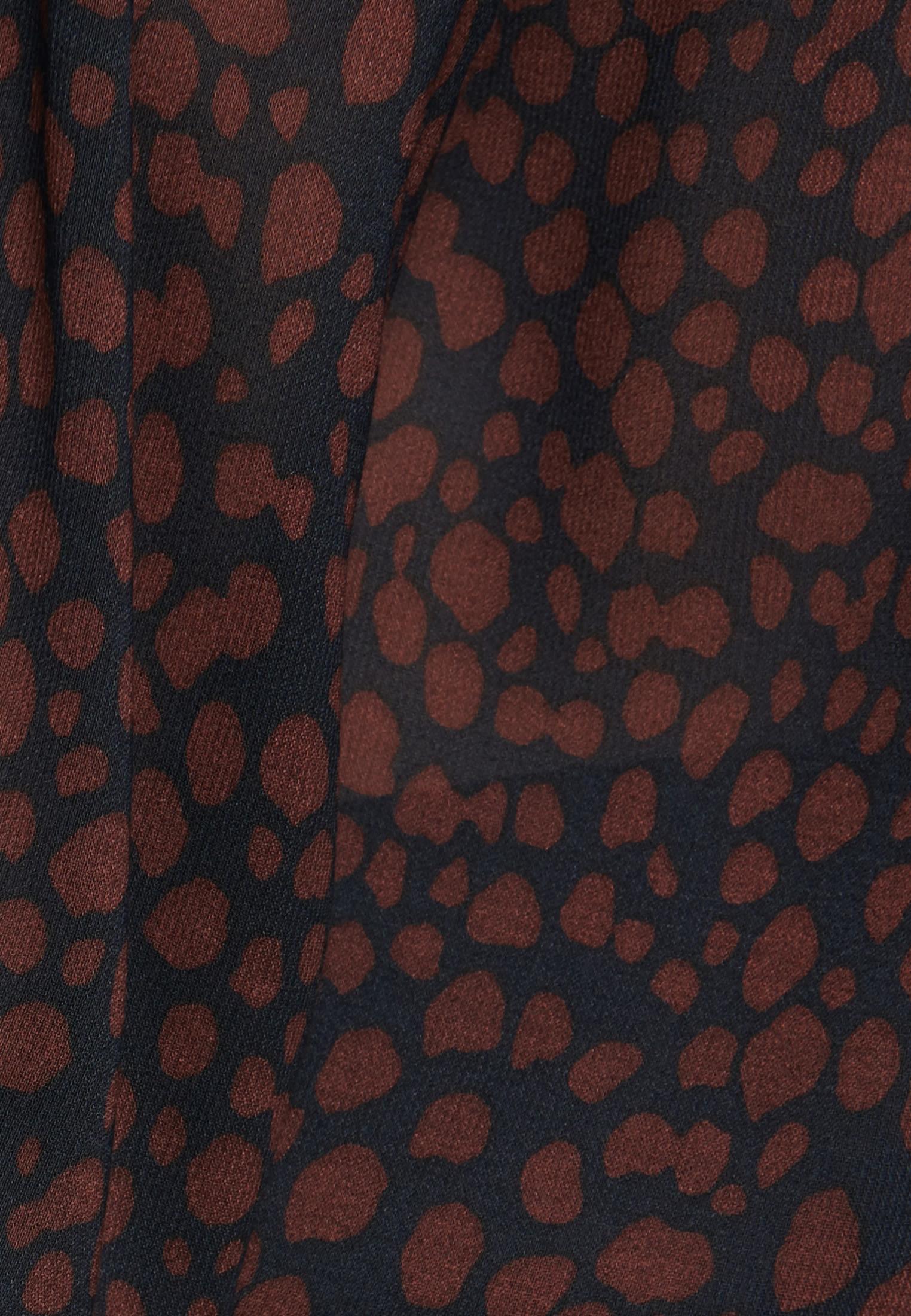 Krepp Wickelbluse aus 100% Viskose in Dunkelblau |  Seidensticker Onlineshop