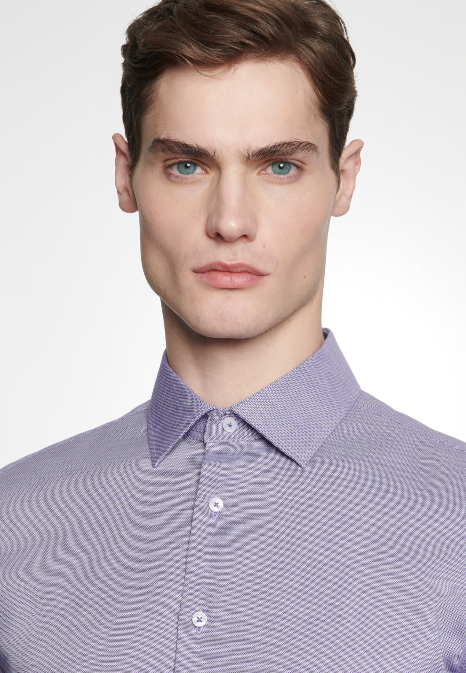 Non-iron Structure Business Shirt in Slim with Kent-Collar in Purpla |  Seidensticker Onlineshop