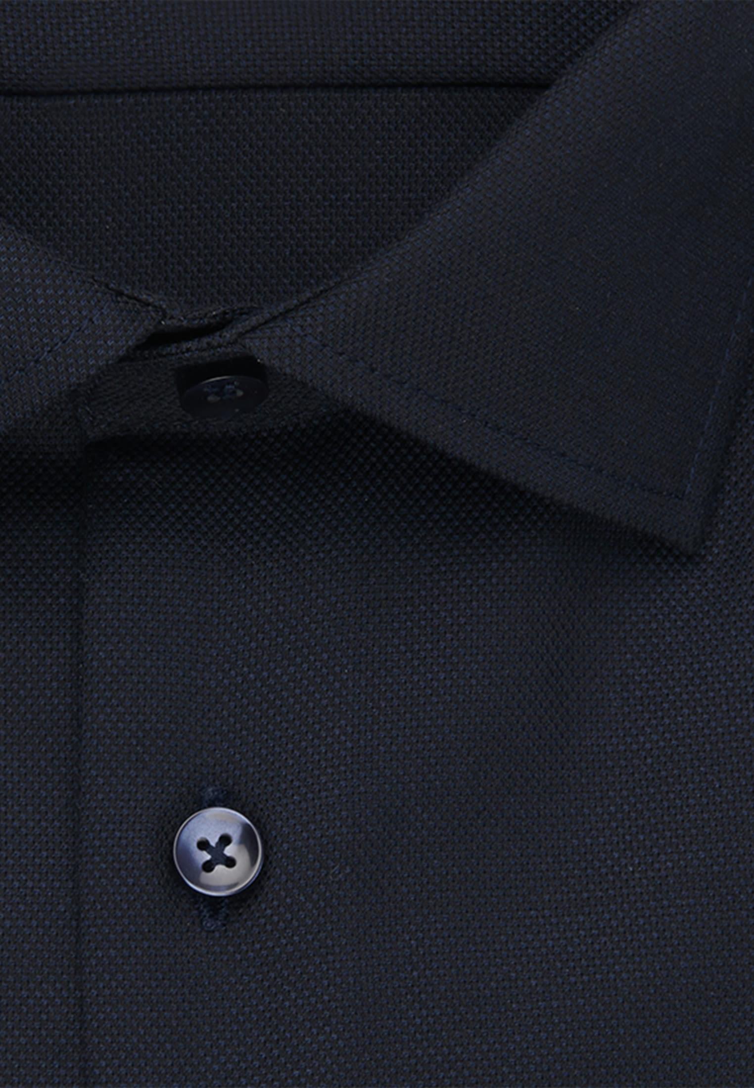 Bügelfreies Struktur Business Hemd in Slim mit Kentkragen in Dunkelblau |  Seidensticker Onlineshop