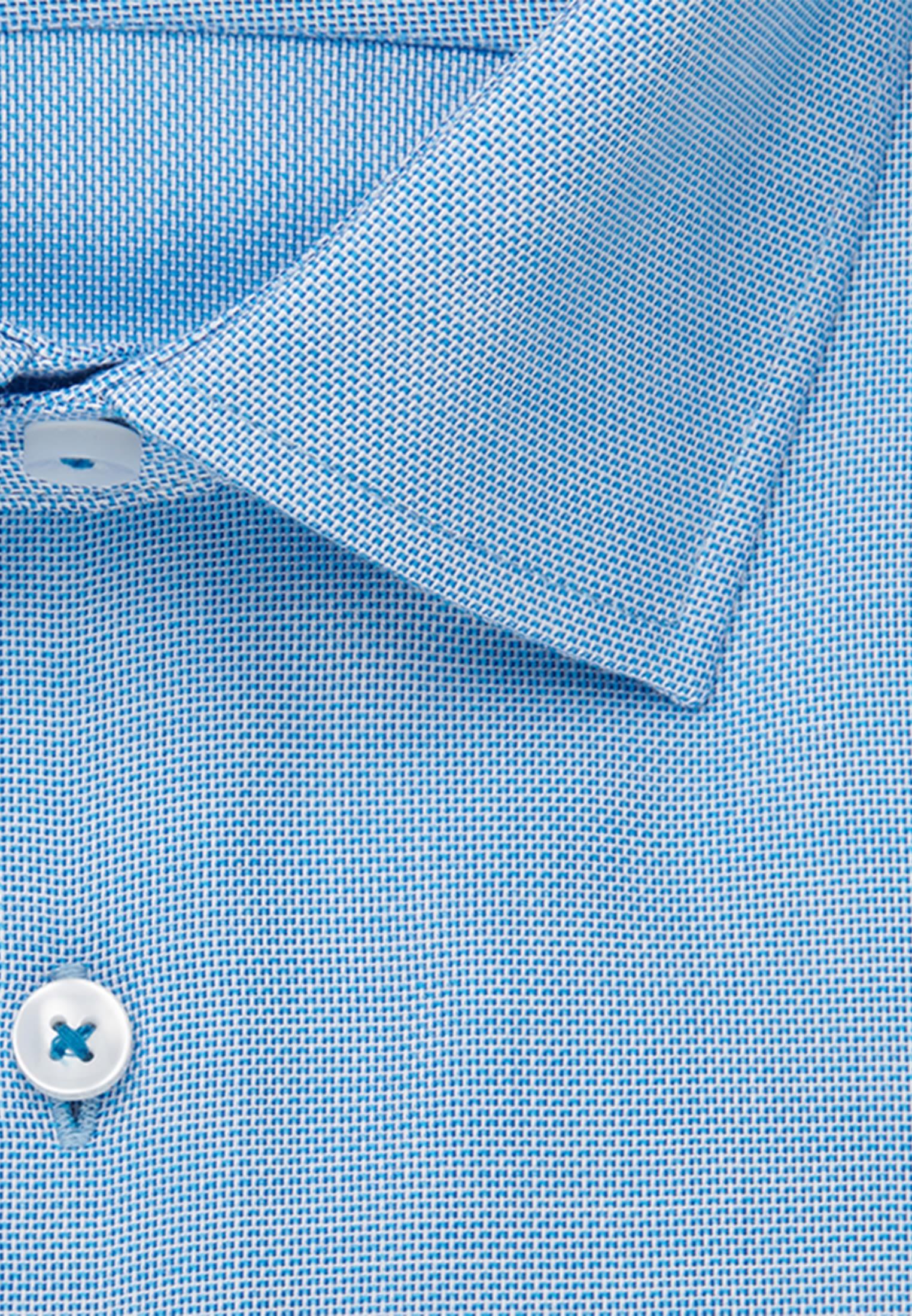 Bügelfreies Struktur Business Hemd in Slim mit Kentkragen in türkis    Seidensticker Onlineshop