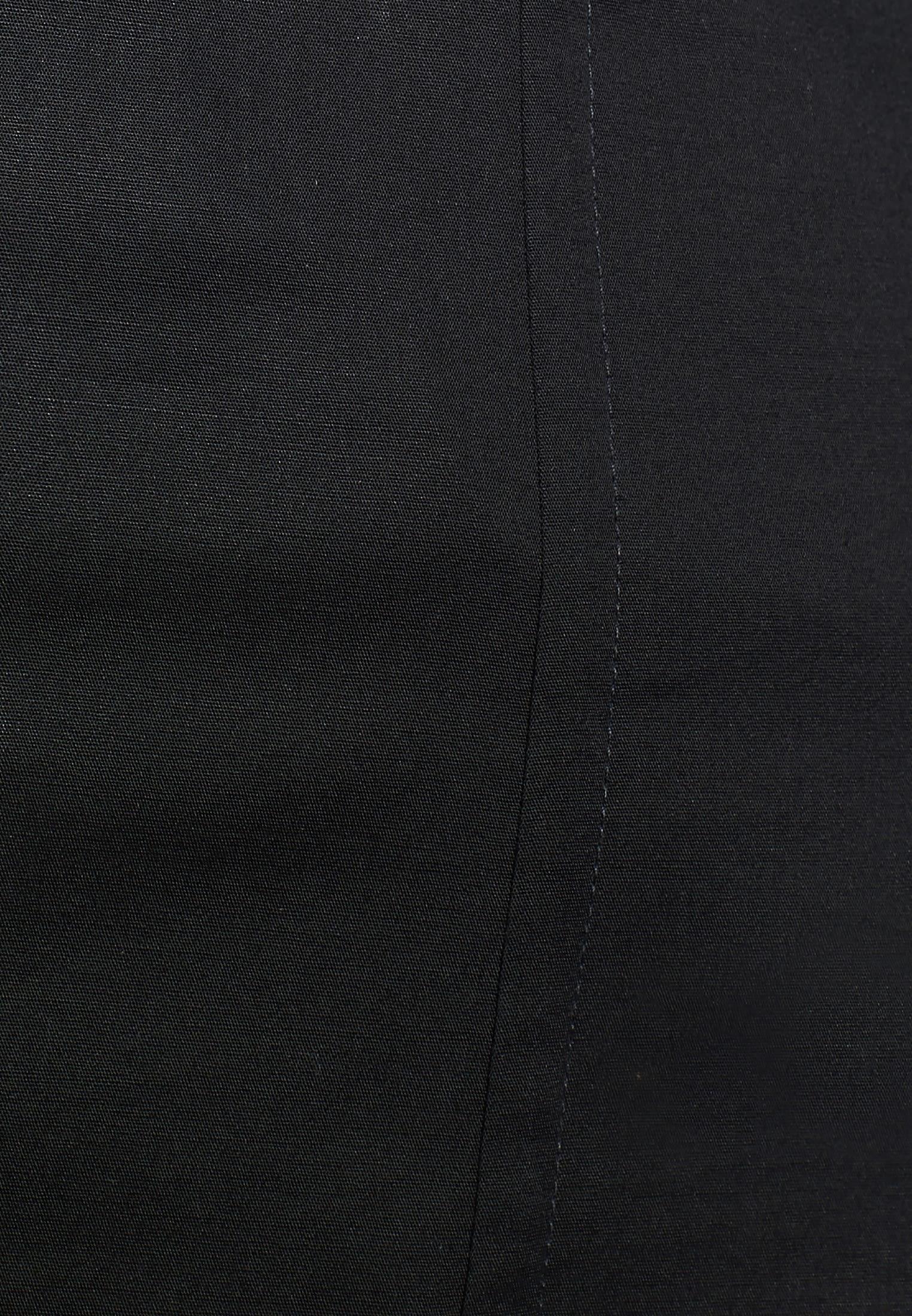 Poplin Shirt Blouse made of cotton blend in Black |  Seidensticker Onlineshop