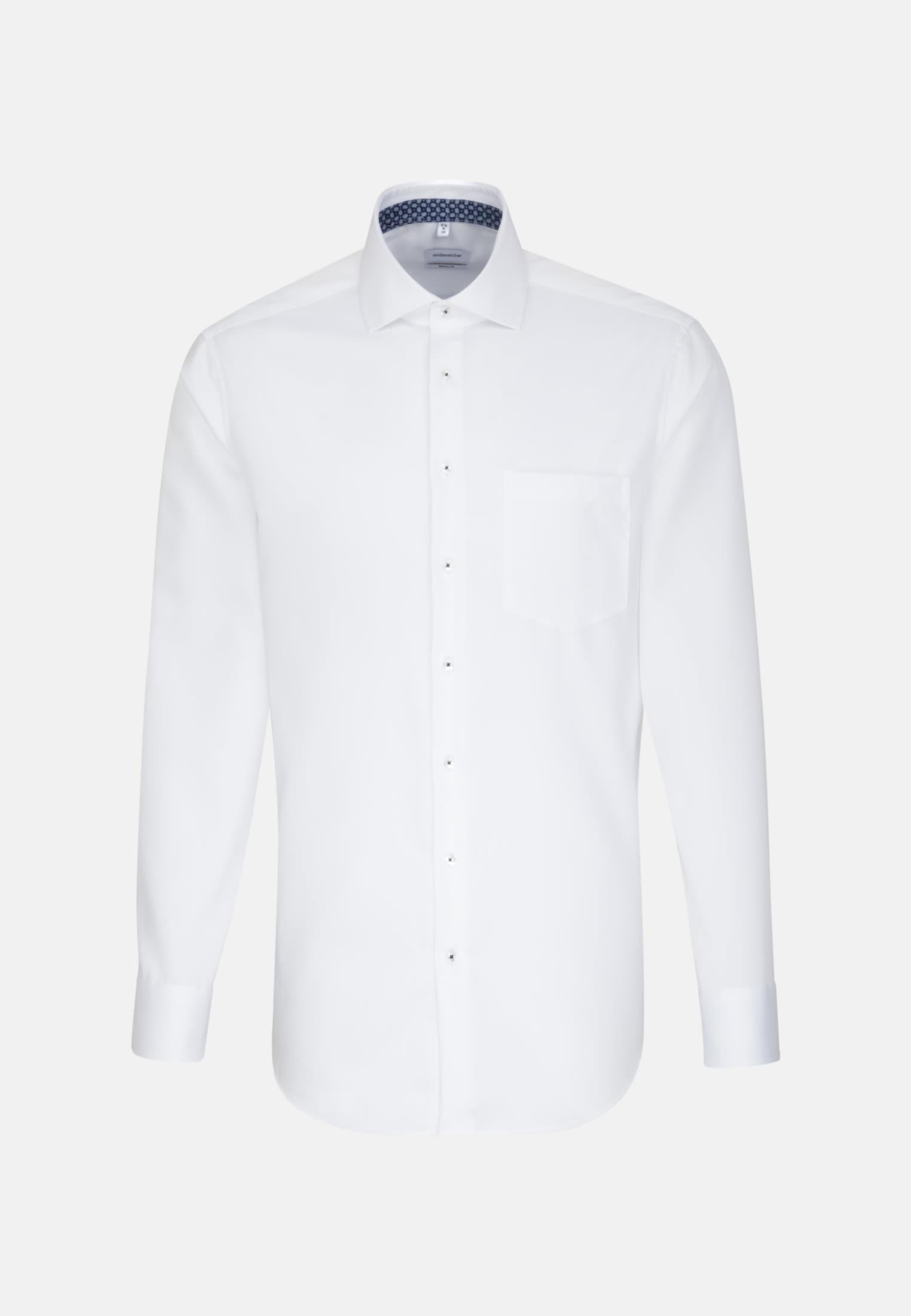 Bügelfreies Twill Business Hemd in Modern mit Kentkragen in Weiß |  Seidensticker Onlineshop