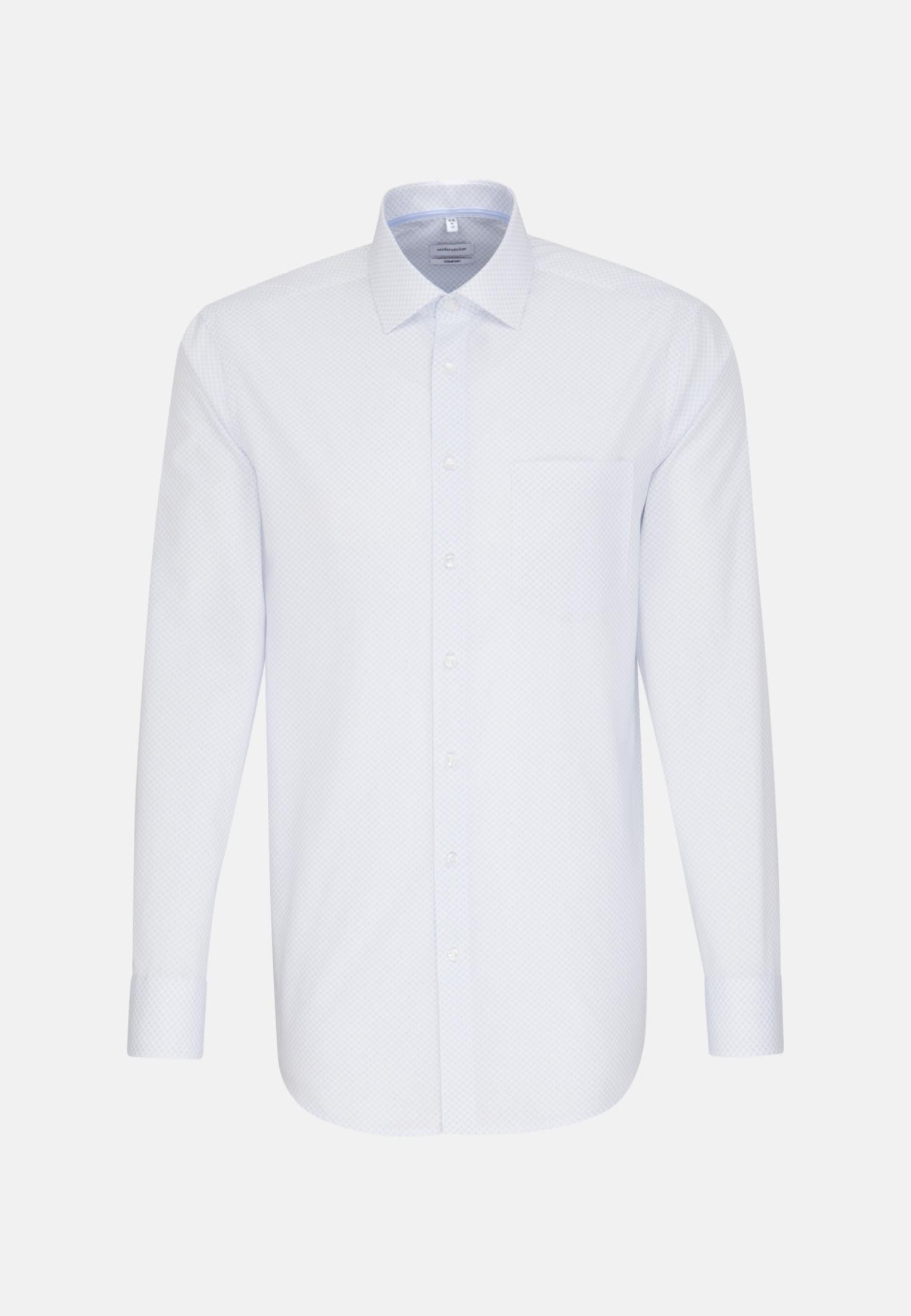 Bügelleichtes Popeline Business Hemd in Comfort mit Kentkragen in Hellblau |  Seidensticker Onlineshop