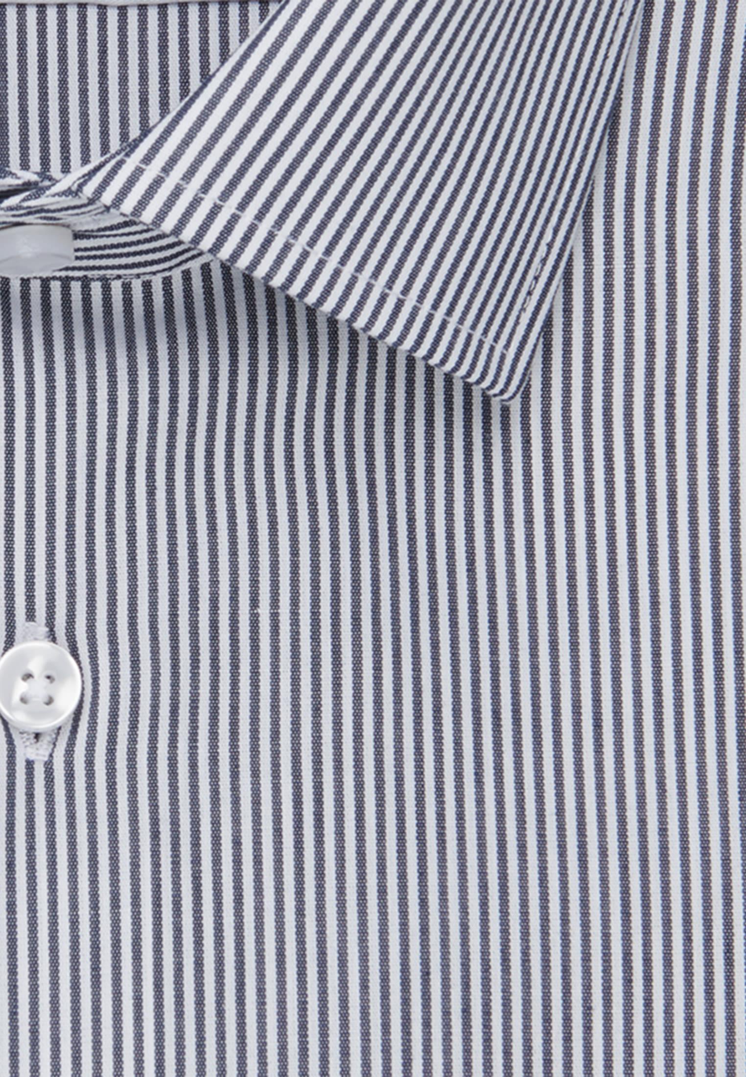 Non-iron Poplin Business Shirt in Slim with Kent-Collar in Dark blue |  Seidensticker Onlineshop