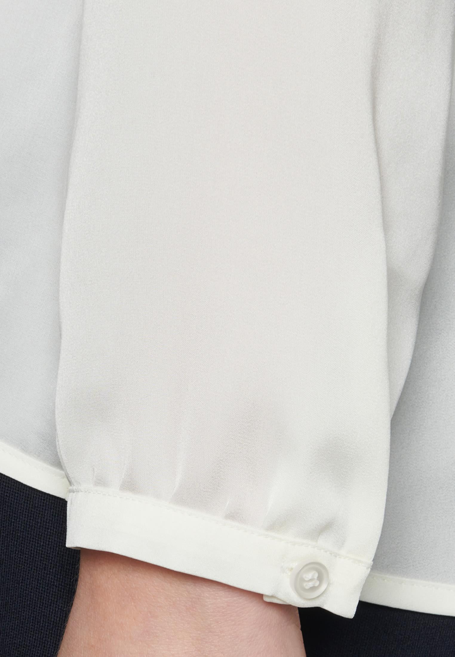 Satin Schlupfbluse aus 100% Polyester in Ecru |  Seidensticker Onlineshop