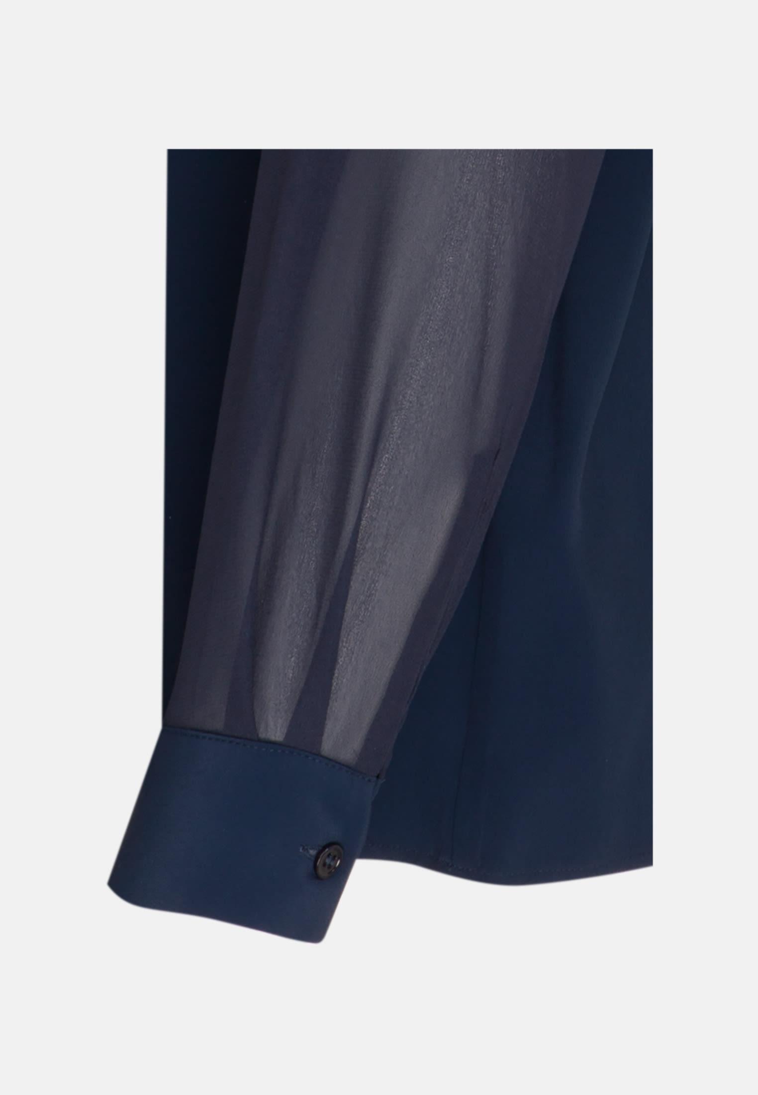 Krepp Shirtbluse aus 76% Acetat 24% Seide in Dunkelblau |  Seidensticker Onlineshop
