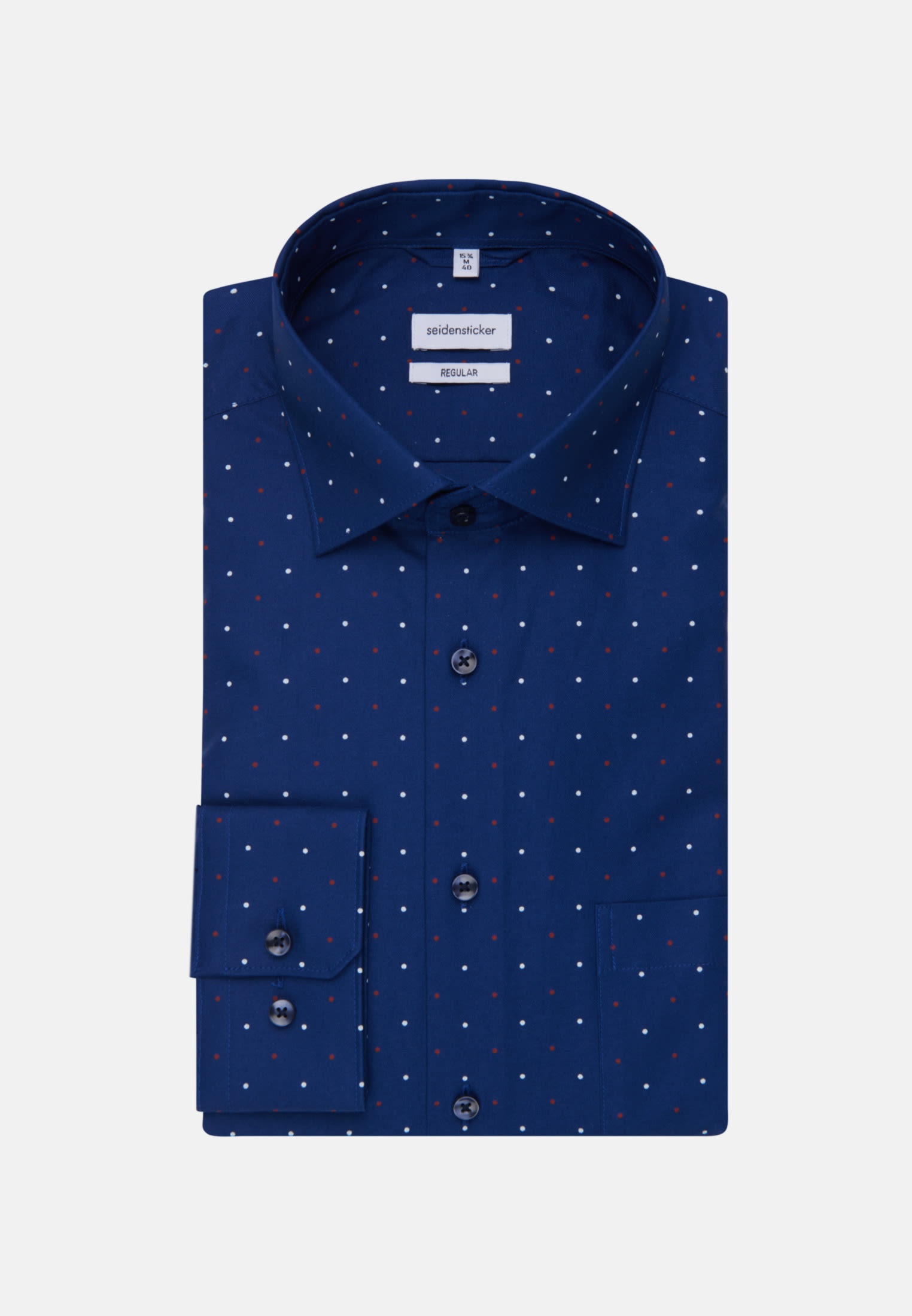 Bügelleichtes Oxford Business Hemd in Regular mit Kentkragen in Mittelblau    Seidensticker Onlineshop