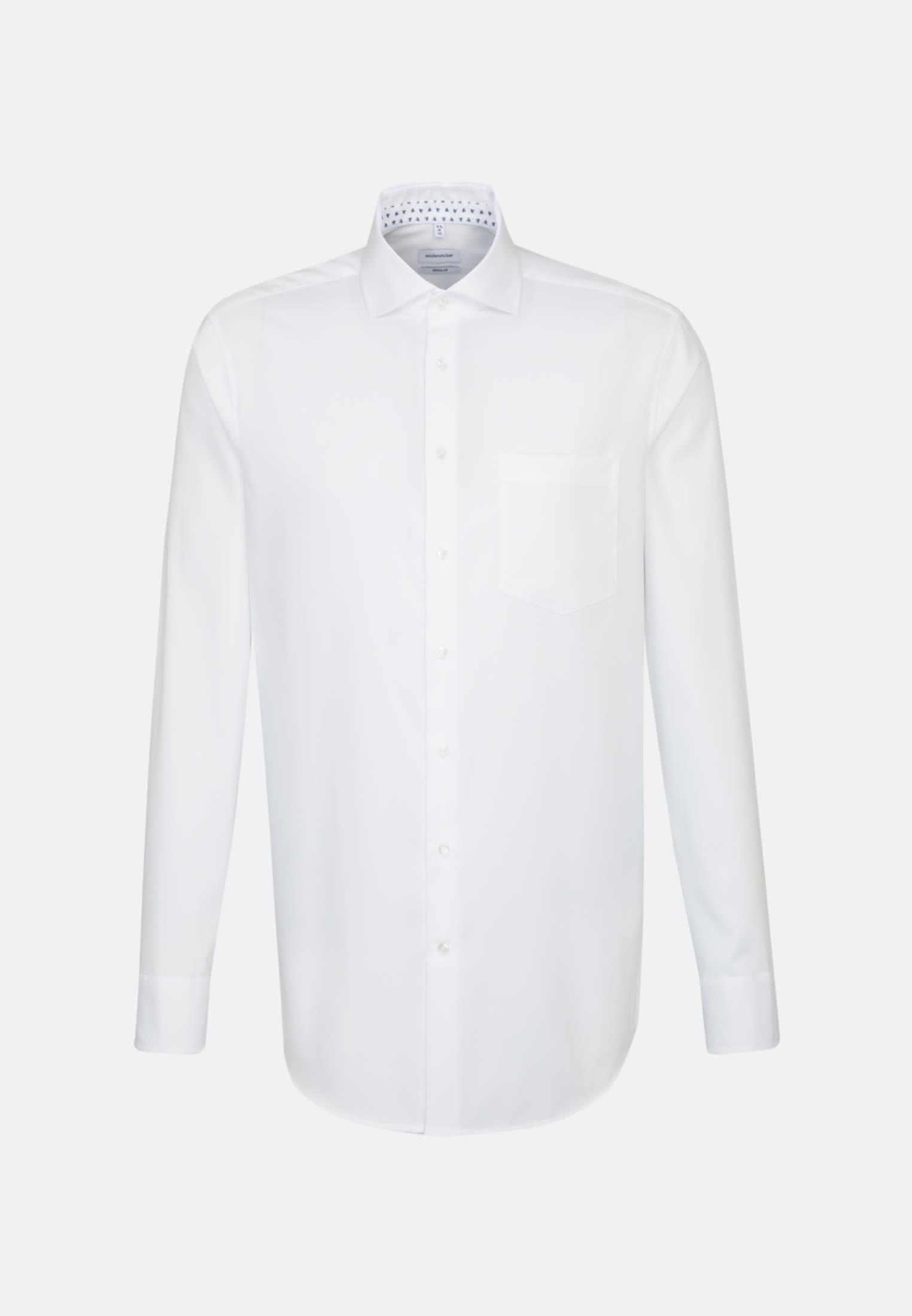 Bügelleichtes Struktur Business Hemd in Modern mit Kentkragen in Weiß    Seidensticker Onlineshop