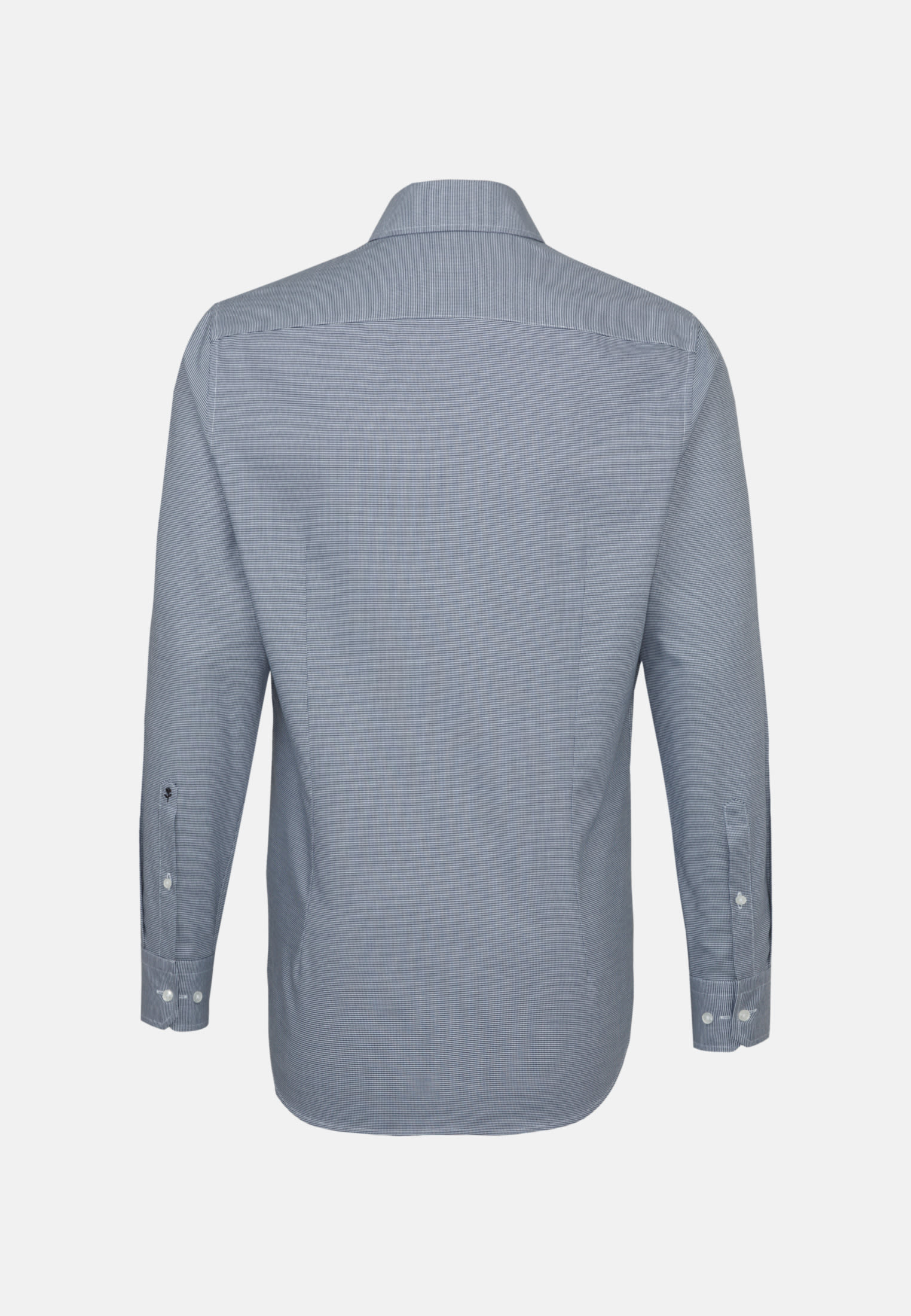 Bügelleichtes Struktur Business Hemd in Shaped mit Kentkragen in Mittelblau    Seidensticker Onlineshop