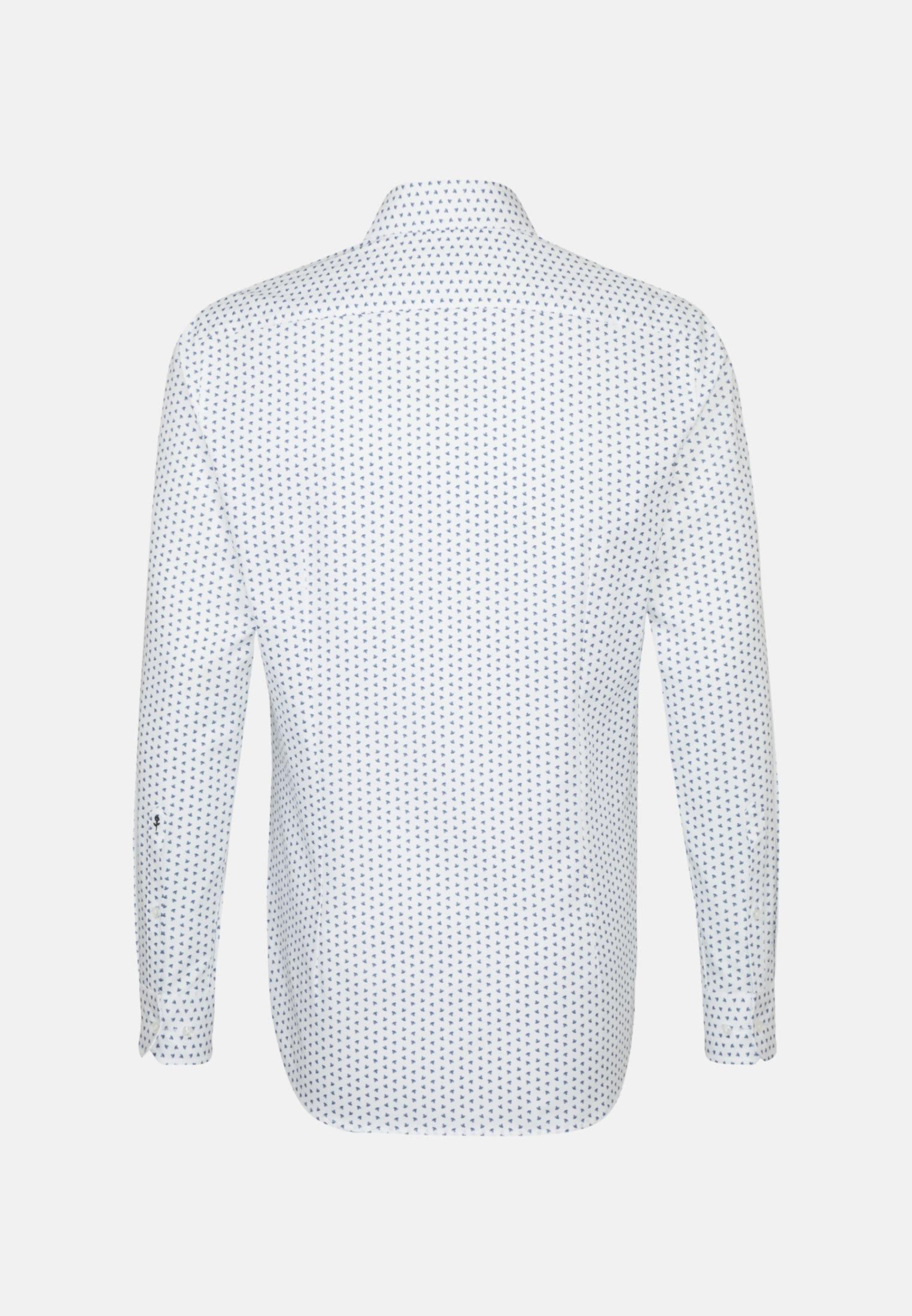Bügelleichtes Struktur Business Hemd in Tailored mit Kentkragen in Mittelblau |  Seidensticker Onlineshop