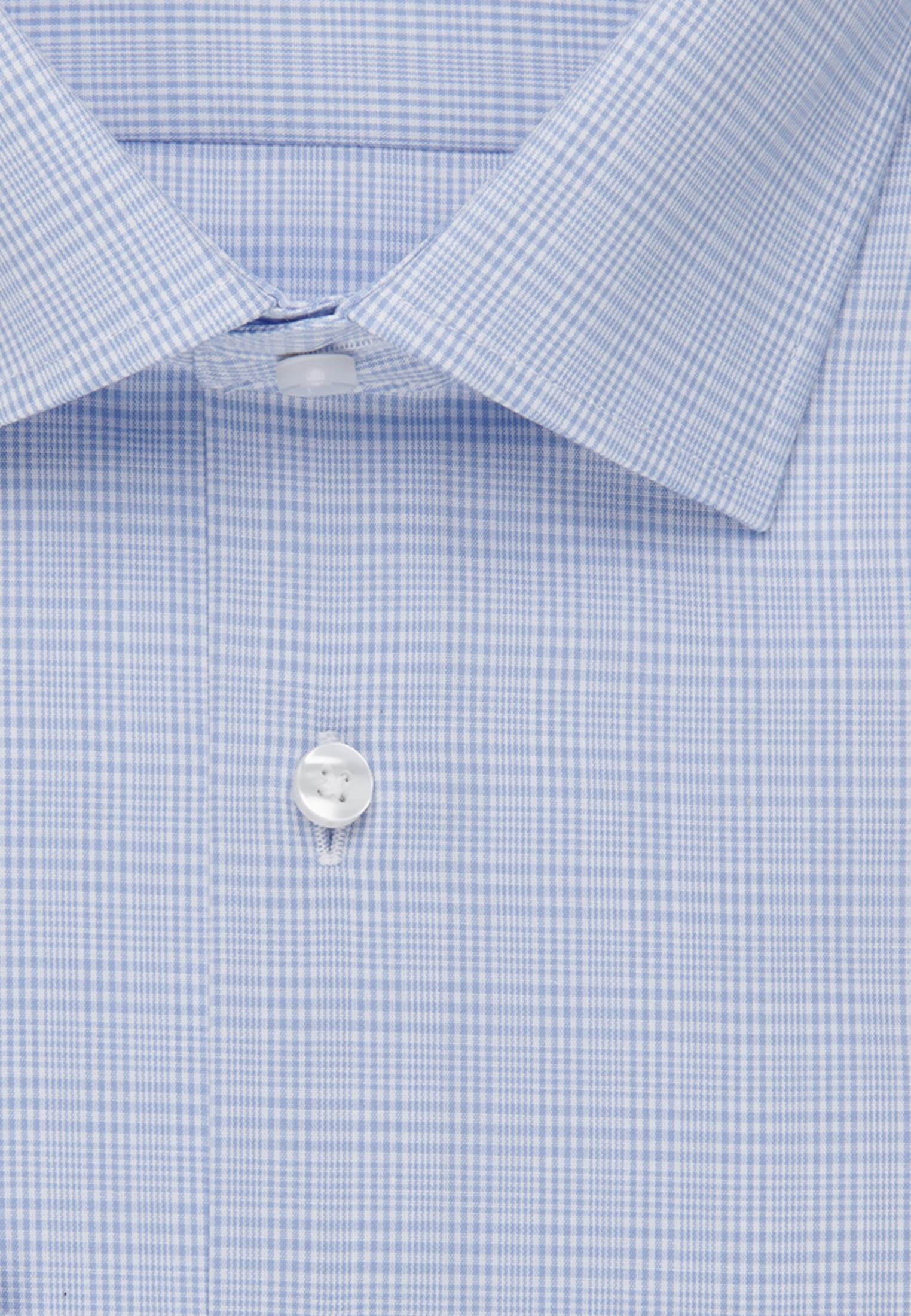 Bügelfreies Glencheck Business Hemd in Modern mit Kentkragen in Hellblau |  Seidensticker Onlineshop