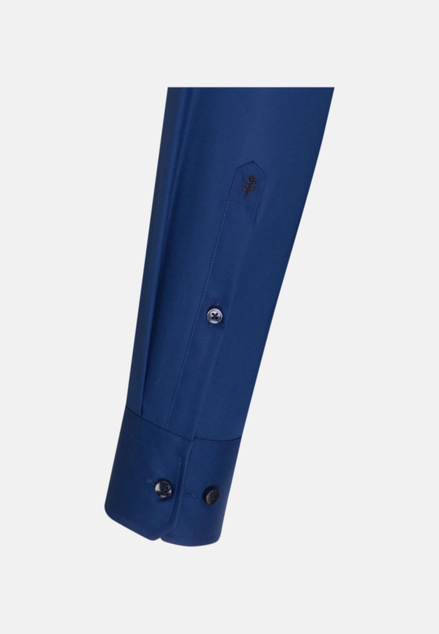 Bügelfreies Popeline Business Hemd in X-Slim mit Kentkragen in Mittelblau    Seidensticker Onlineshop