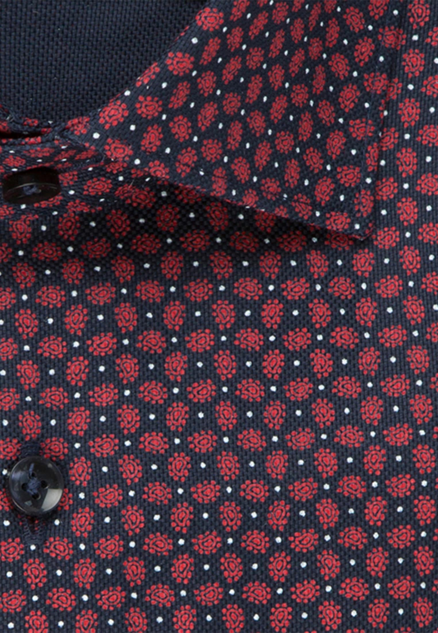 Bügelleichtes Struktur Business Hemd in Regular mit Kentkragen in Rot |  Seidensticker Onlineshop