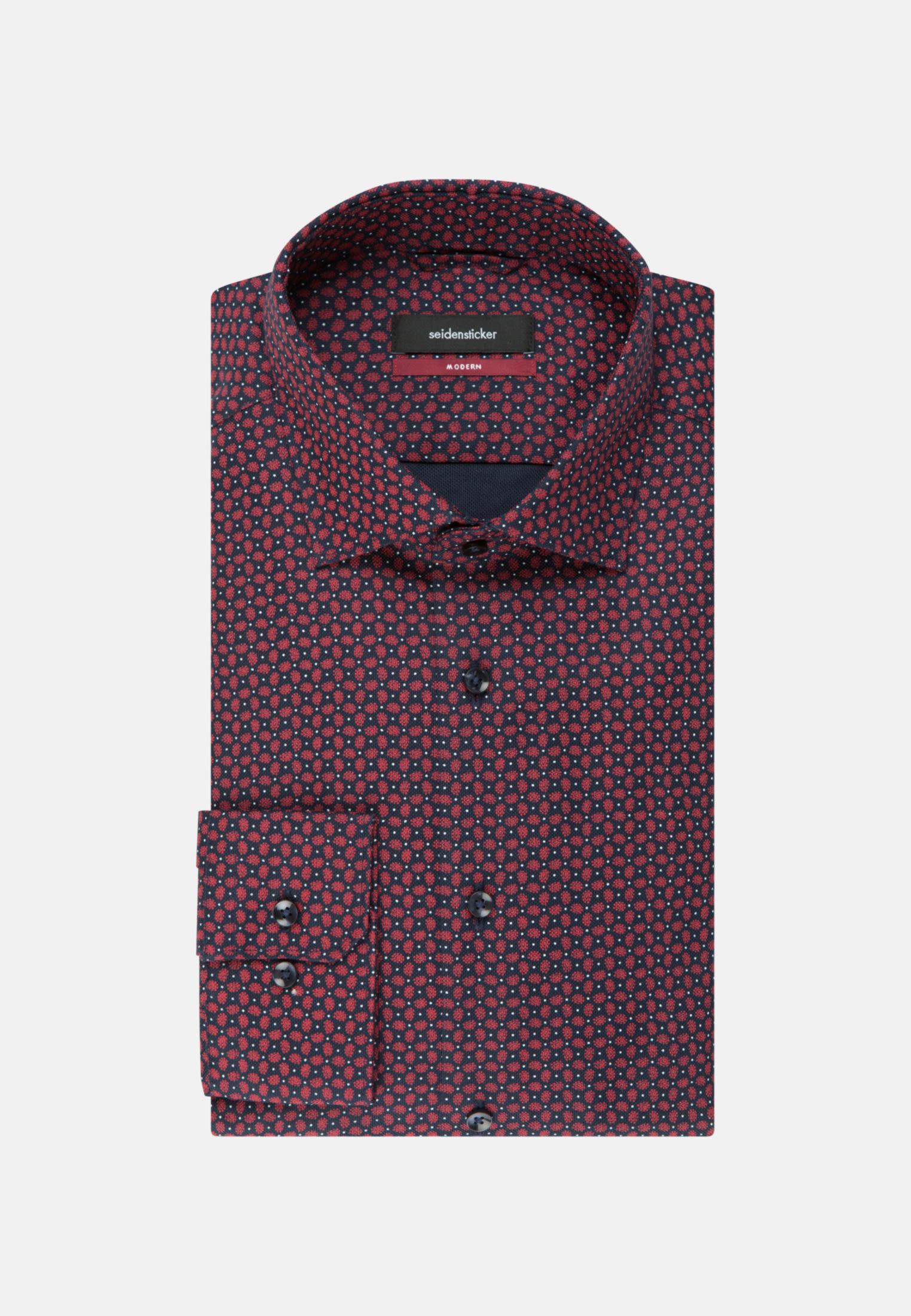 Easy-iron Structure Business Shirt in Regular with Kent-Collar in Dark blue |  Seidensticker Onlineshop