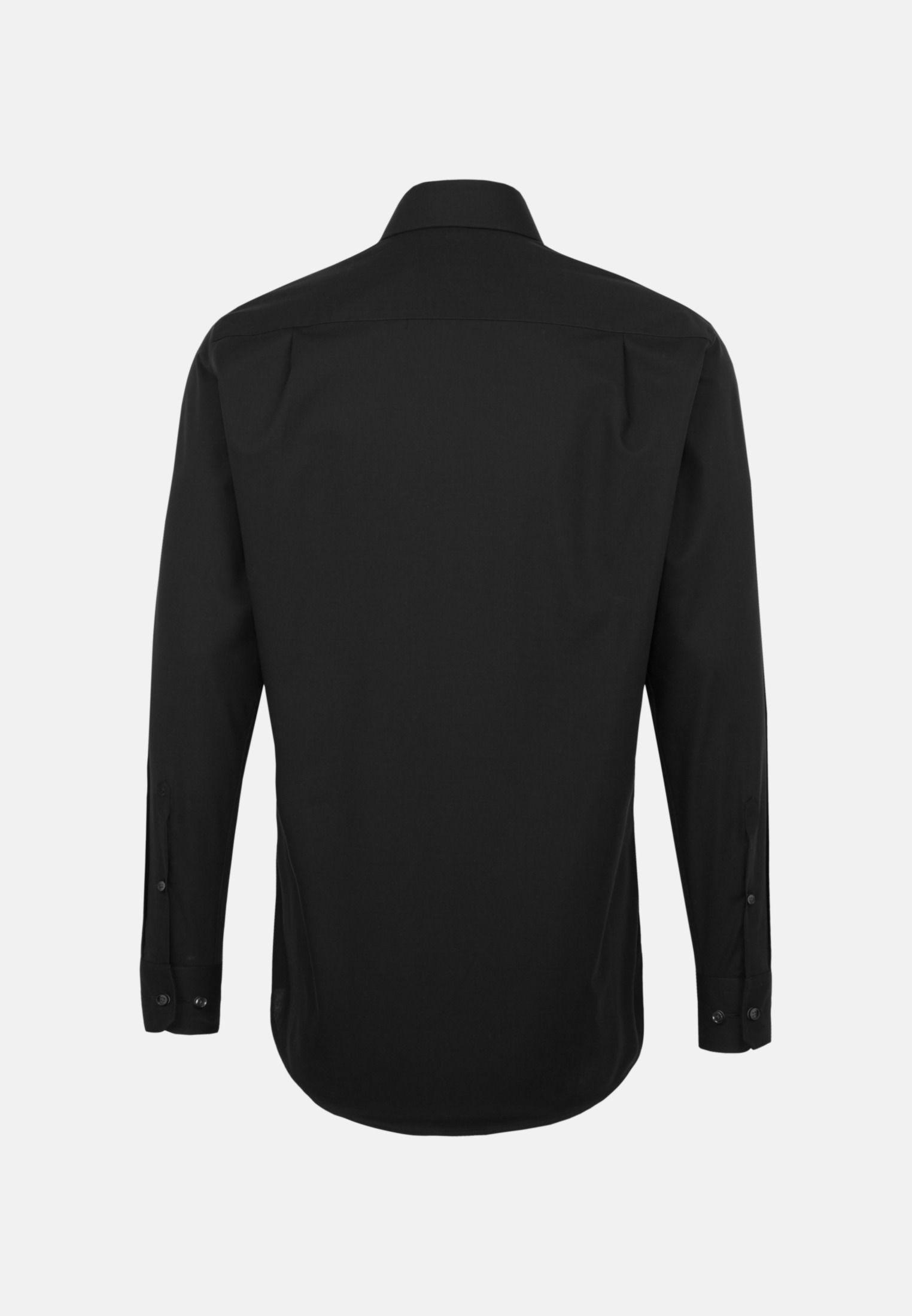 Bügelfreies Popeline Business Hemd in Comfort mit Kentkragen in Schwarz |  Seidensticker Onlineshop