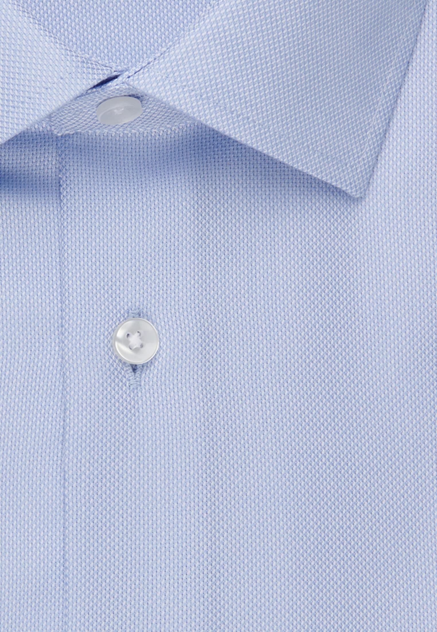Bügelfreies Struktur Business Hemd in X-Slim mit Kentkragen in Mittelblau |  Seidensticker Onlineshop