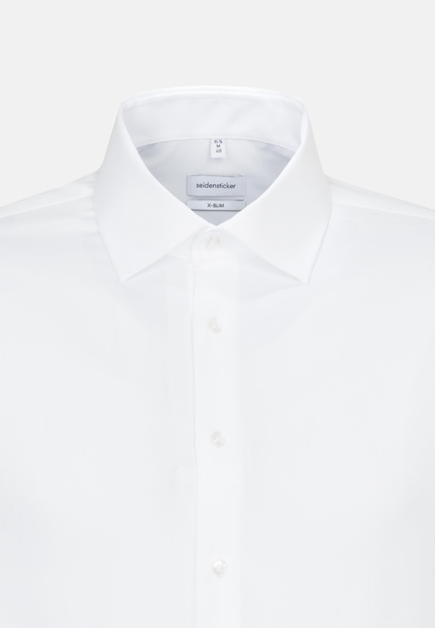 Bügelfreies Struktur Business Hemd in X-Slim mit Kentkragen in Weiß |  Seidensticker Onlineshop