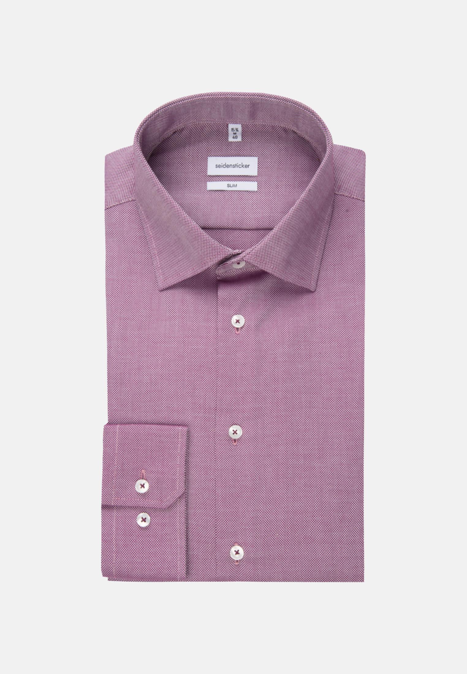 Non-iron Structure Business Shirt in Slim with Kent-Collar in Rosa/Pink |  Seidensticker Onlineshop