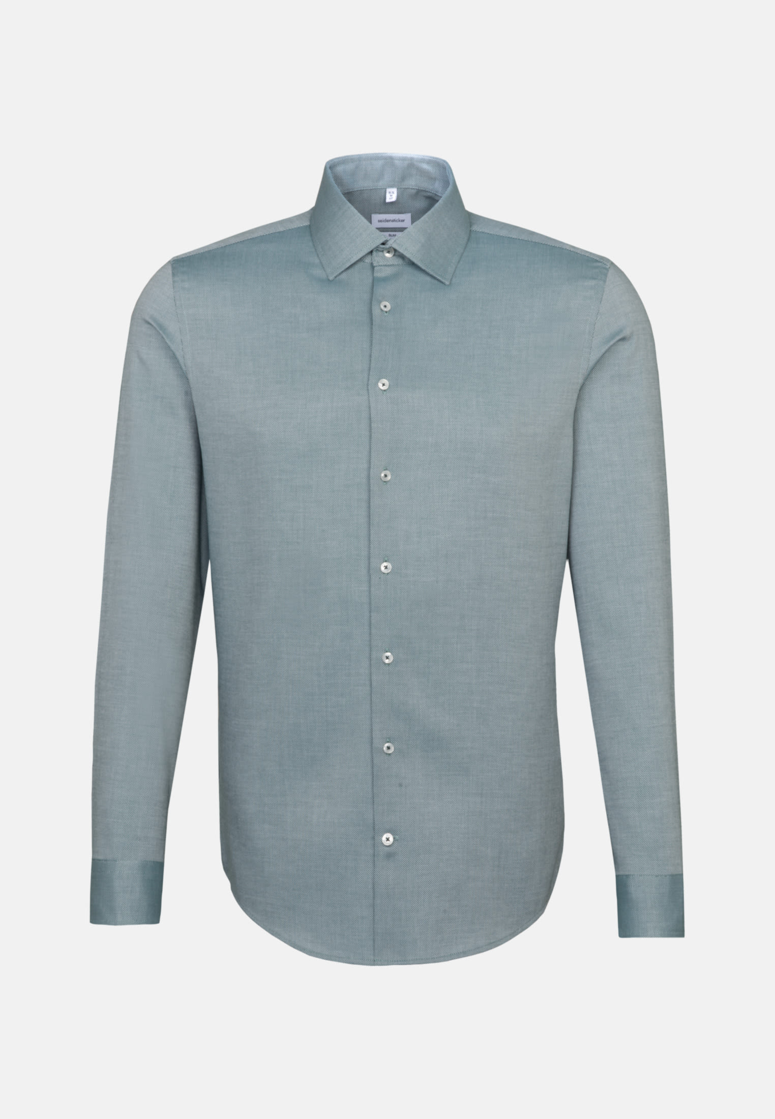 Non-iron Structure Business Shirt in Slim with Kent-Collar in Grün |  Seidensticker Onlineshop