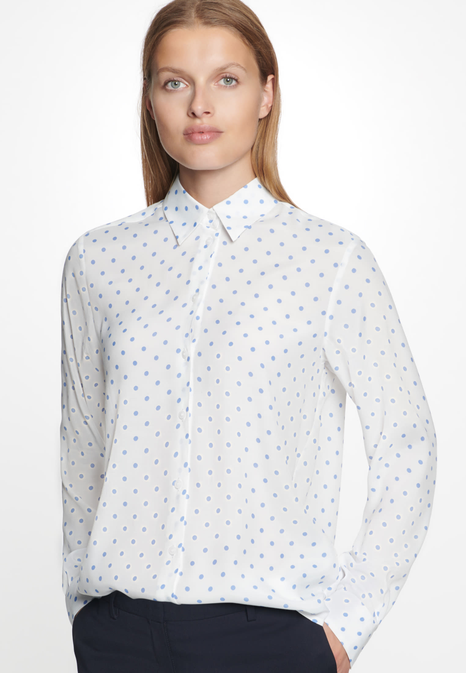 Voile Shirt Blouse made of 100% Viskose in Ecru |  Seidensticker Onlineshop