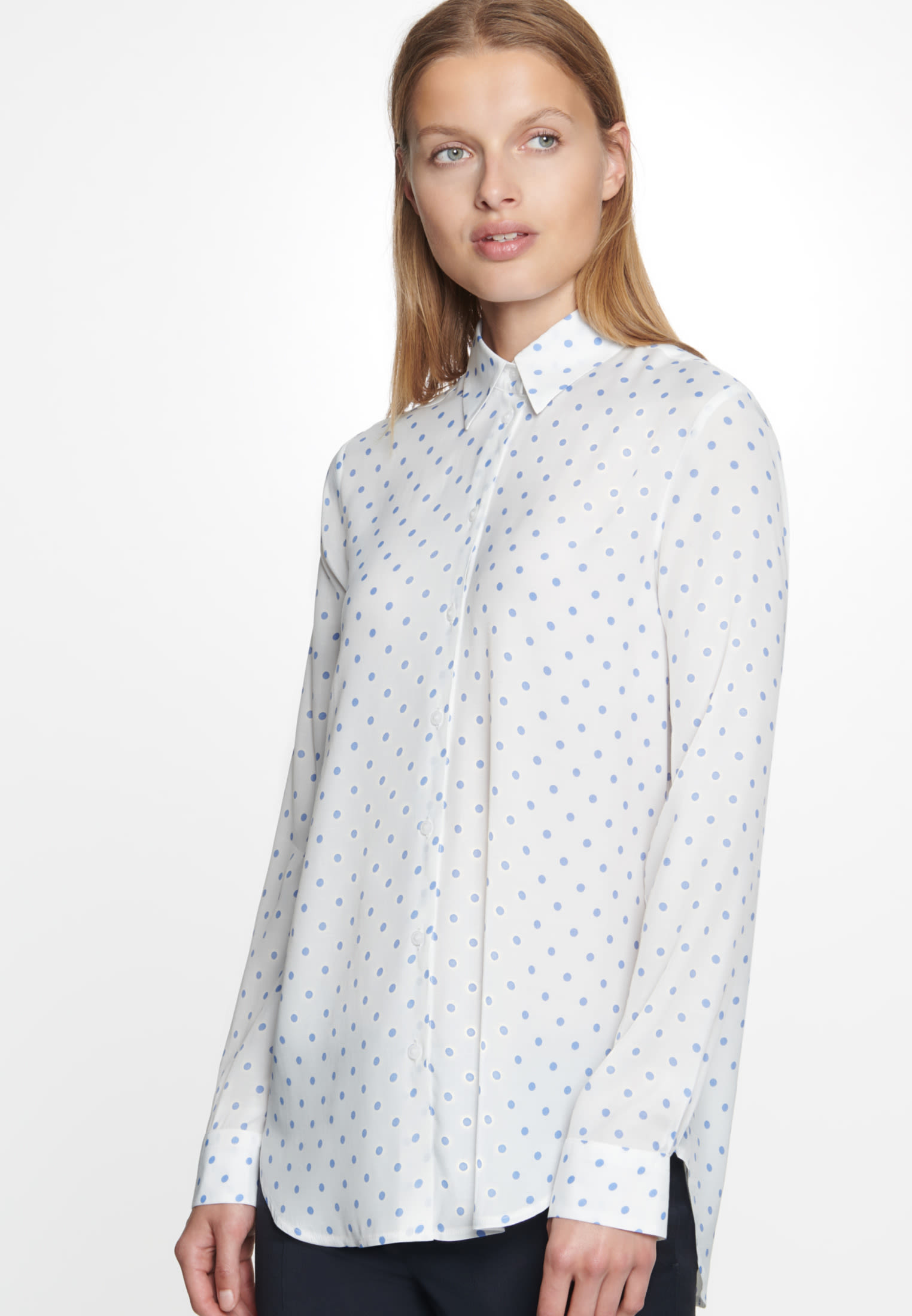 Voile Shirt Blouse made of 100% Viscose in Ecru |  Seidensticker Onlineshop