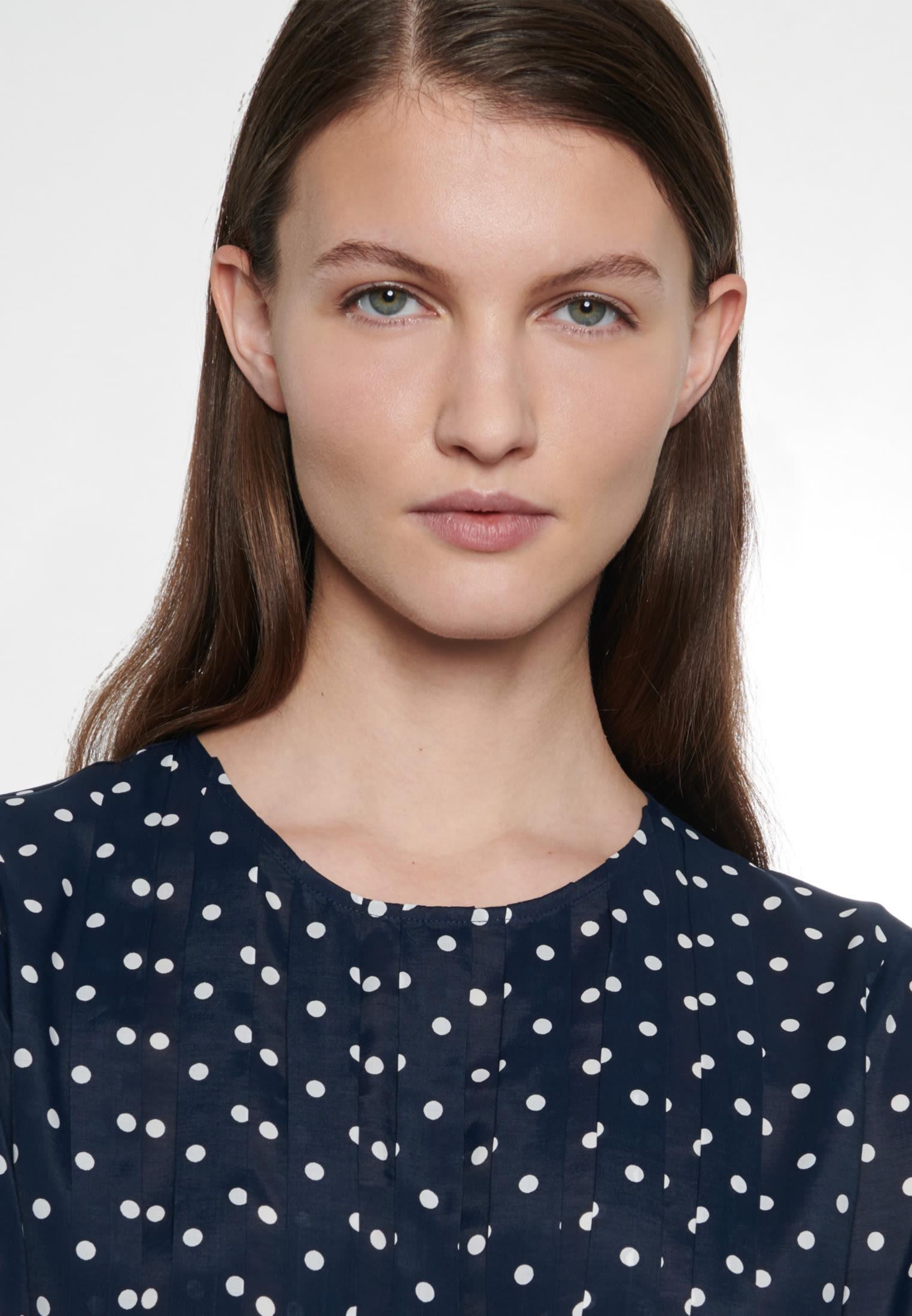 Voile Shirtbluse aus 100% Viskose in Dunkelblau |  Seidensticker Onlineshop