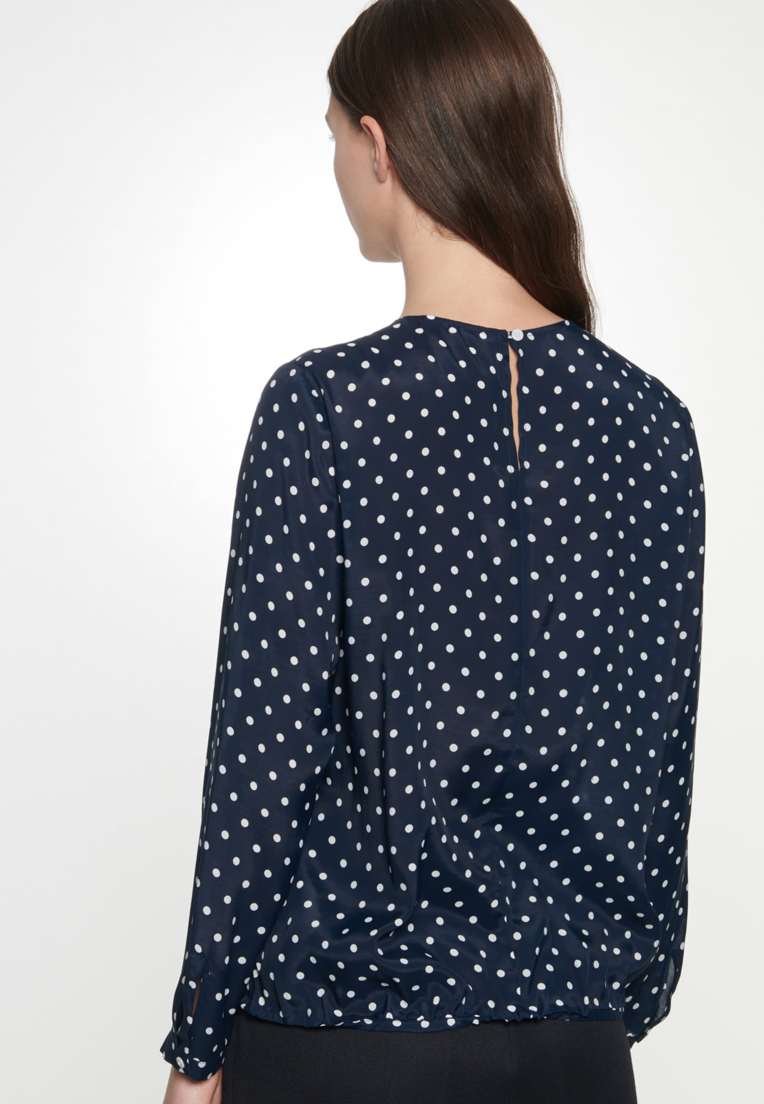 Voile Shirt Blouse made of 100% Viskose in Dark blue |  Seidensticker Onlineshop