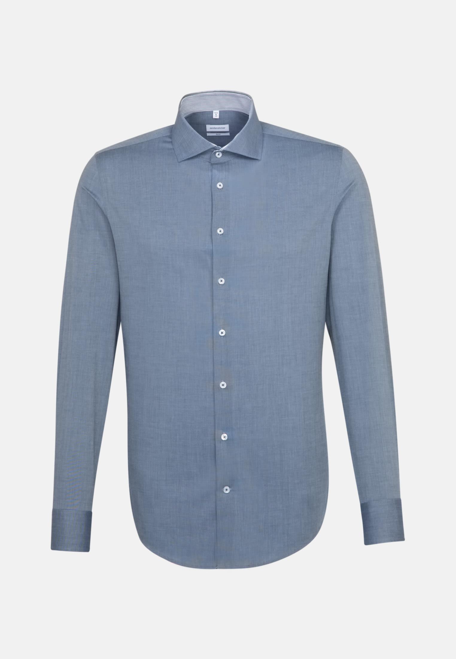 Bügelfreies Fil a fil Business Hemd in Slim mit Kentkragen in Hellblau    Seidensticker Onlineshop