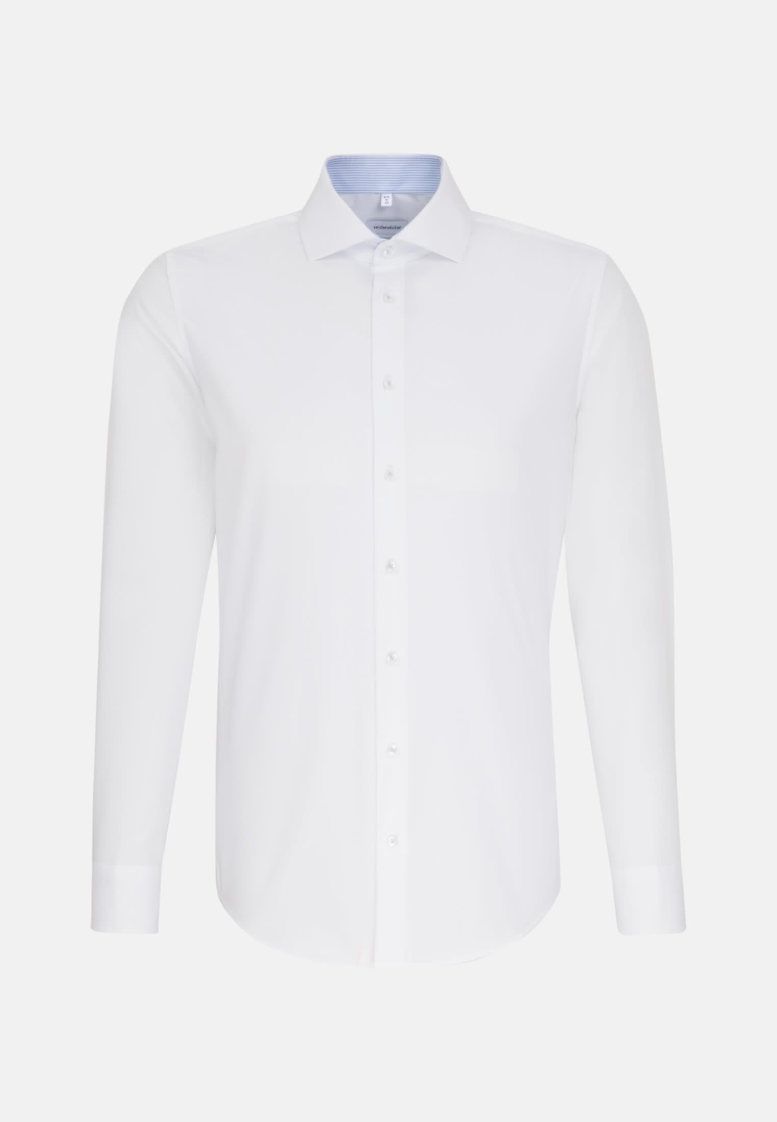 Bügelfreies Fil a fil Business Hemd in Slim mit Kentkragen in Weiß    Seidensticker Onlineshop