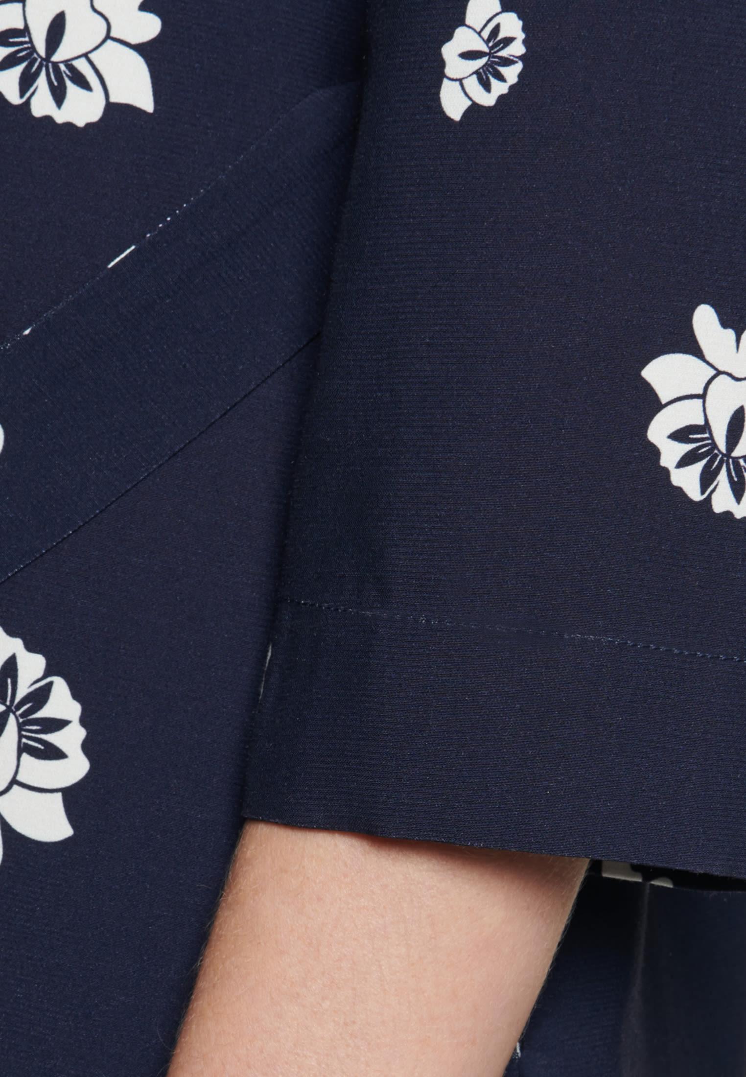 Popeline Midi Kleid aus Viskosemischung in Dunkelblau |  Seidensticker Onlineshop