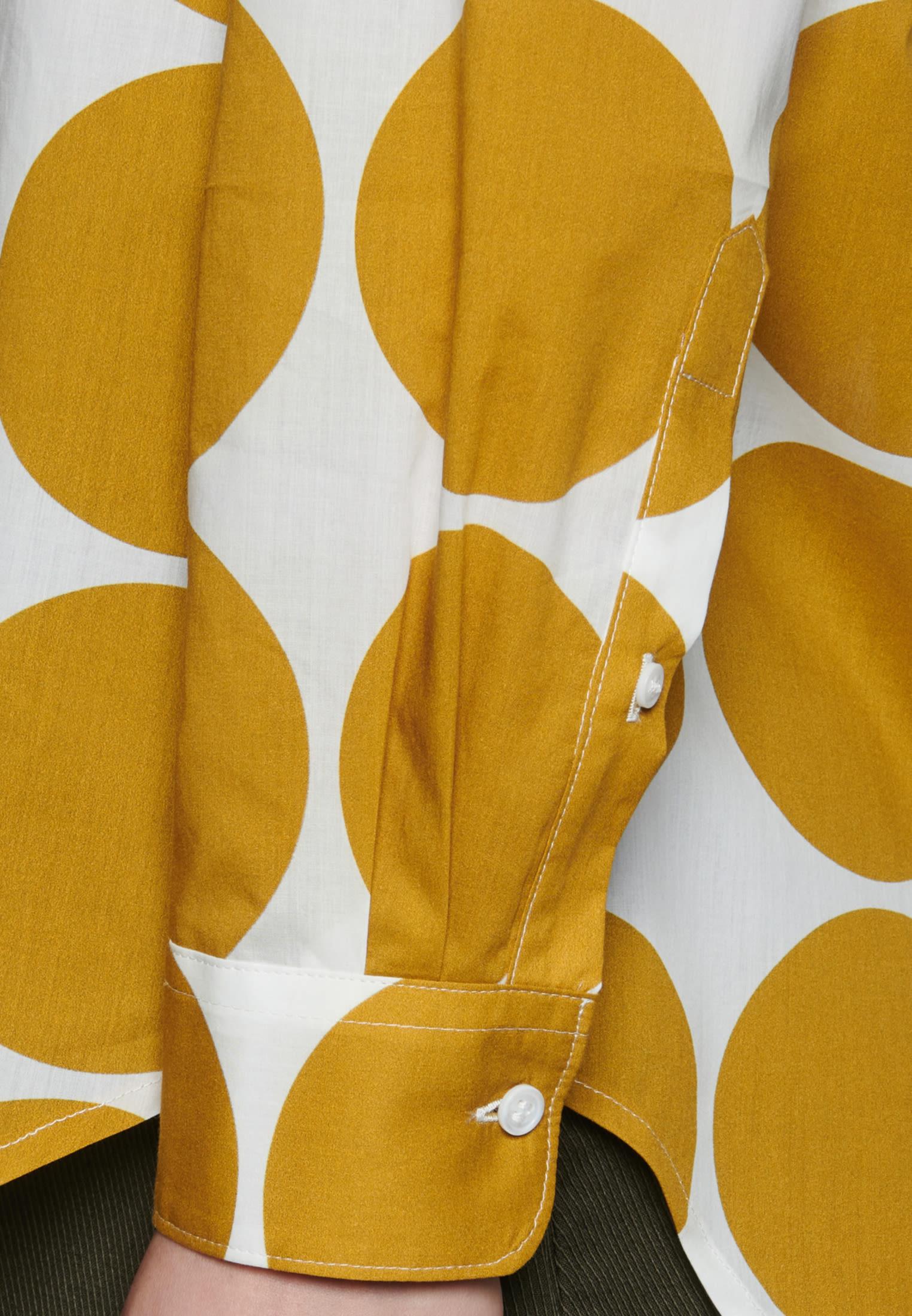 Voile Hemdbluse aus 100% Baumwolle in Gelb |  Seidensticker Onlineshop