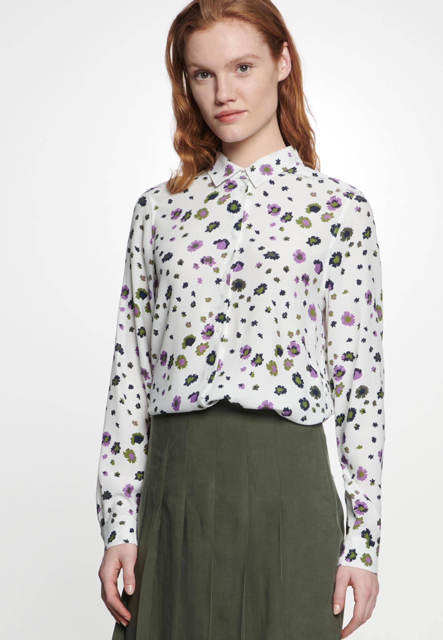 Crepe Shirt Blouse made of 100% Viscose in Ecru |  Seidensticker Onlineshop