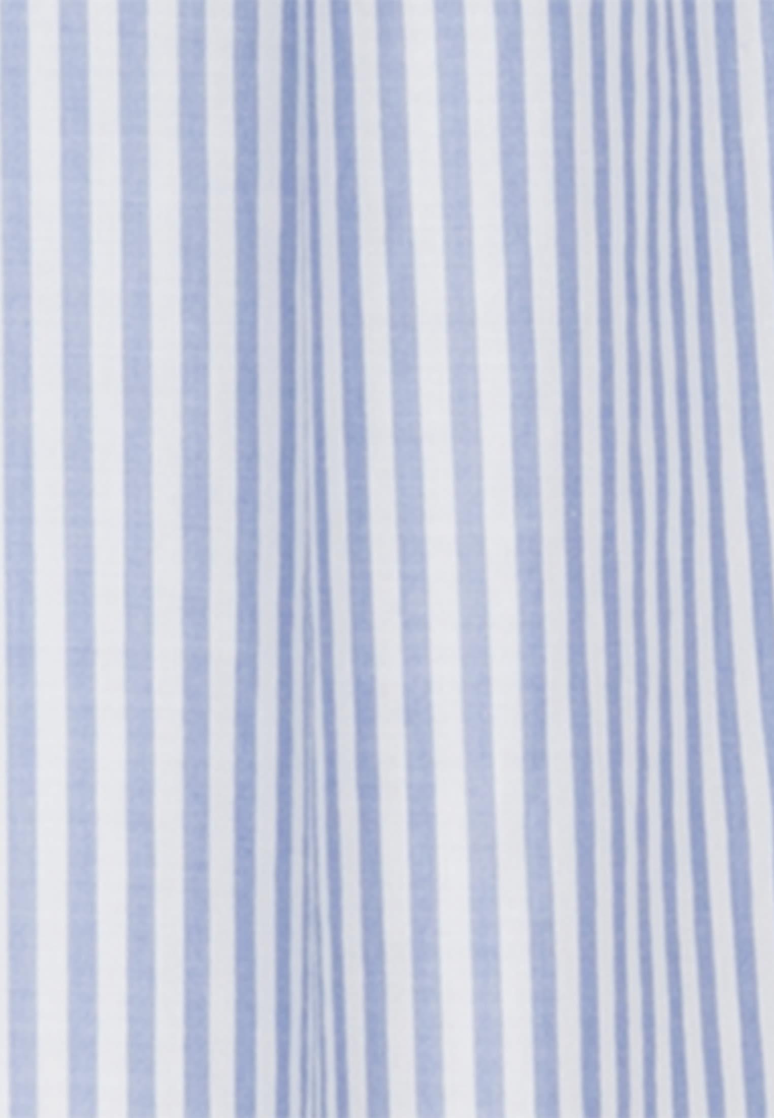 Popeline Stehkragenbluse aus 100% Baumwolle in Mittelblau |  Seidensticker Onlineshop