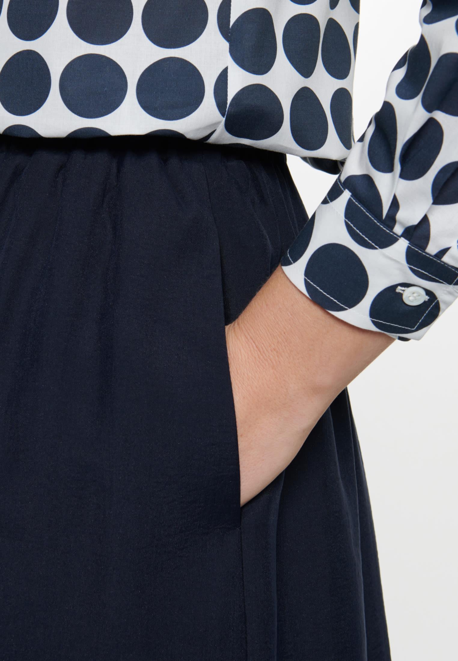 Twill Maxi Skirt made of tencel blend in Dark blue |  Seidensticker Onlineshop