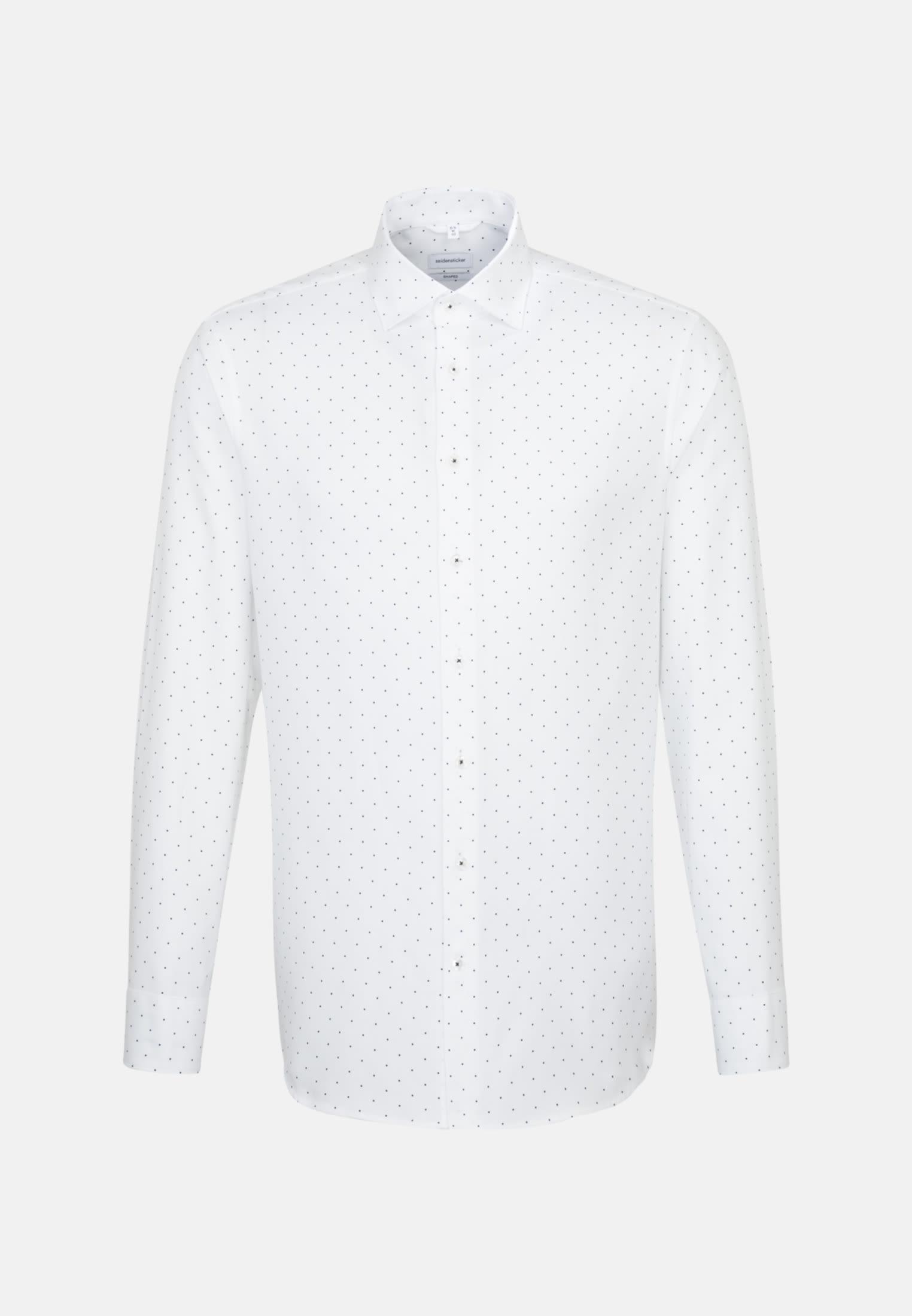 Bügelleichtes Struktur Business Hemd in Shaped mit Kentkragen in Weiß |  Seidensticker Onlineshop