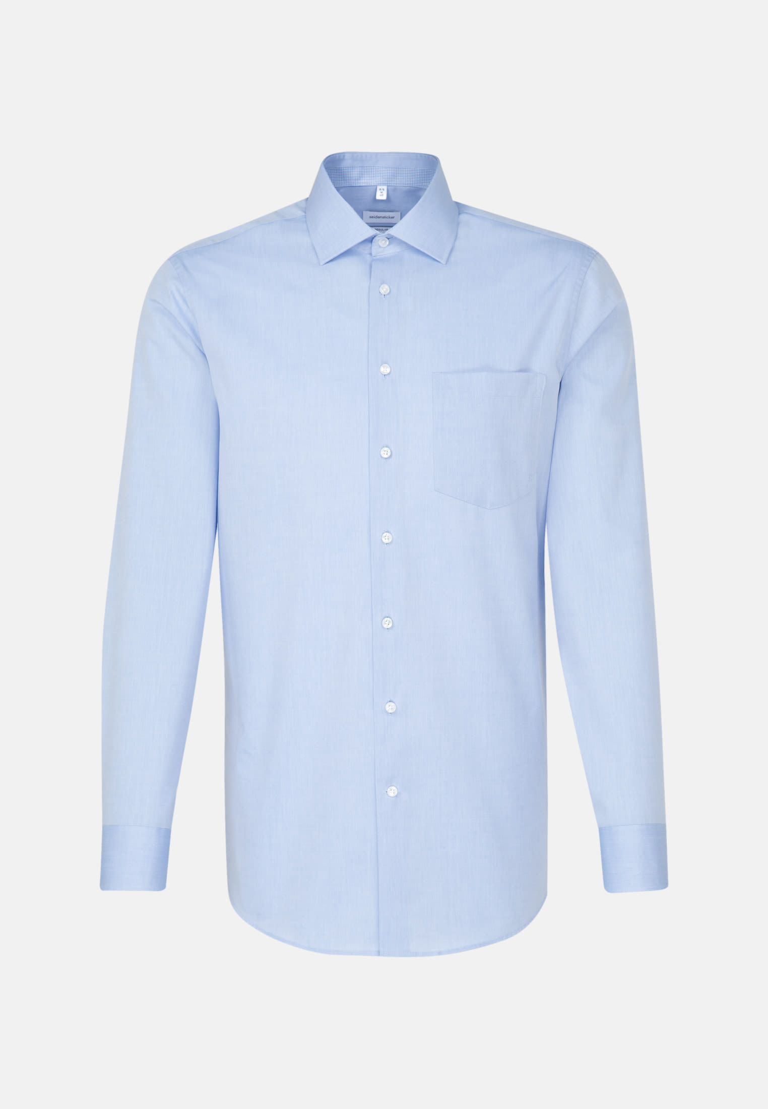 Non-iron Chambray Business Shirt in Regular with Kent-Collar in Light blue |  Seidensticker Onlineshop