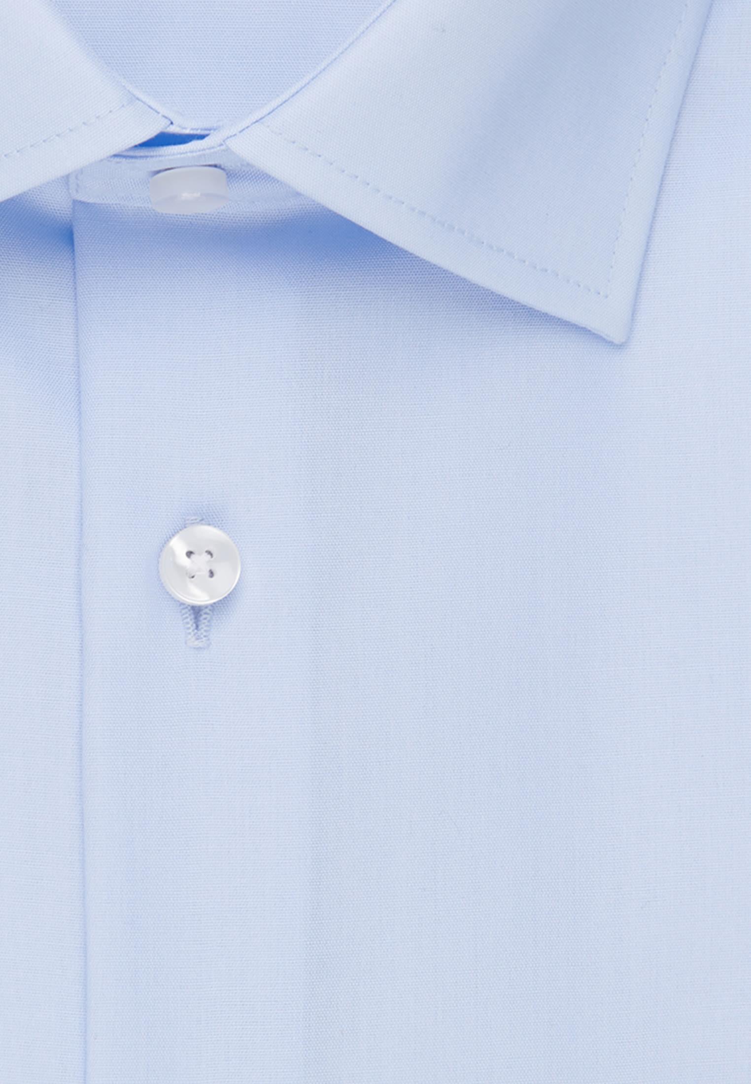 Non-iron Poplin Business Shirt in Comfort with Kent-Collar in Medium blue |  Seidensticker Onlineshop