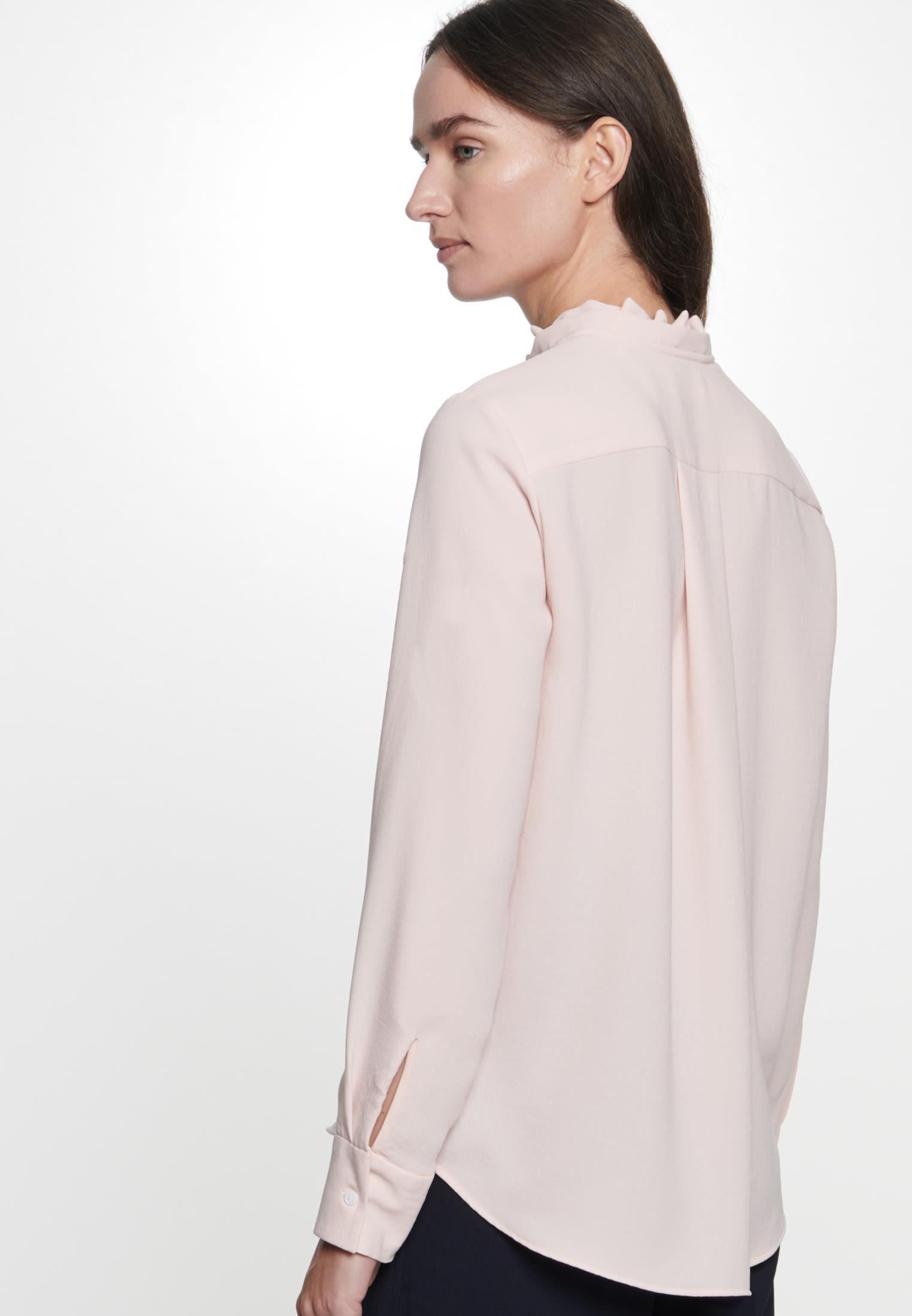 Popeline Stehkragenbluse aus 100% Polyester in Rosa/Pink |  Seidensticker Onlineshop