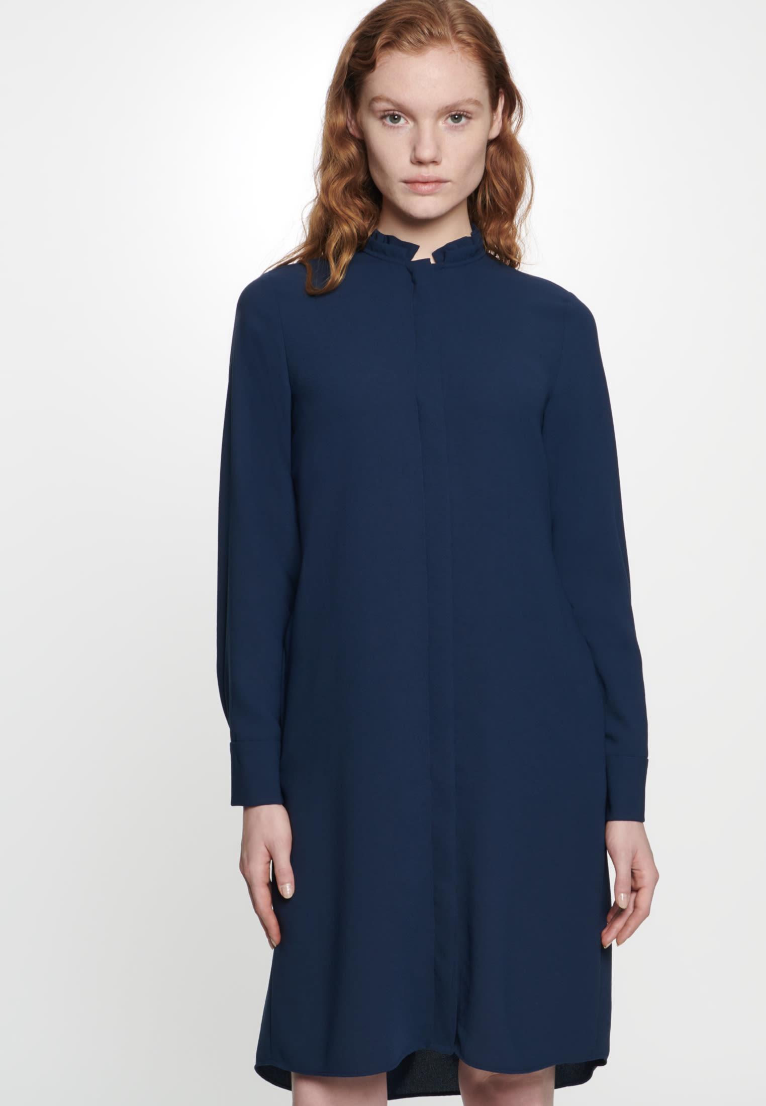 Poplin Midi Dress made of 100% Polyester in Dark blue |  Seidensticker Onlineshop