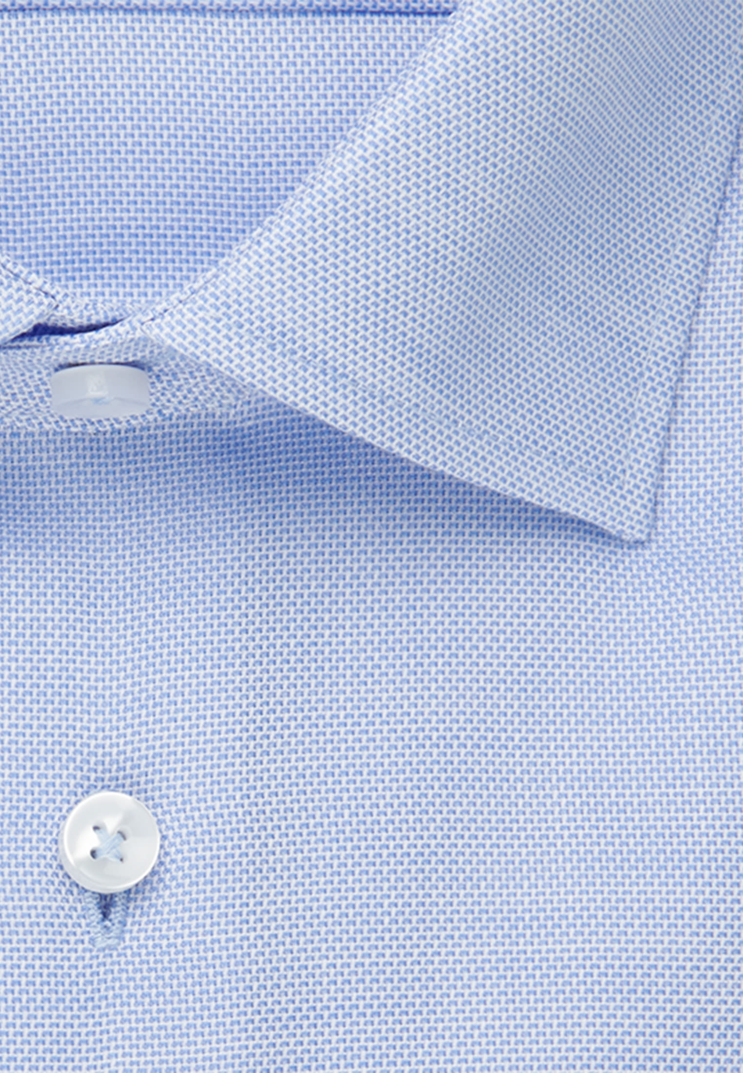 Bügelfreies Struktur Business Hemd in Regular mit Kentkragen in Hellblau |  Seidensticker Onlineshop