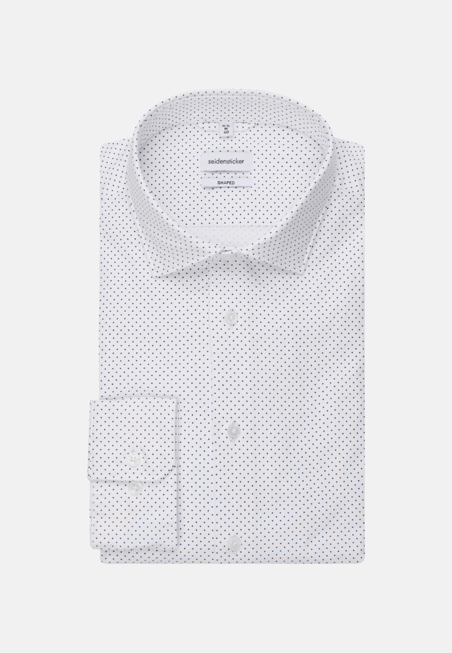 Bügelleichtes Oxford Business Hemd in Shaped mit Kentkragen in Weiß |  Seidensticker Onlineshop