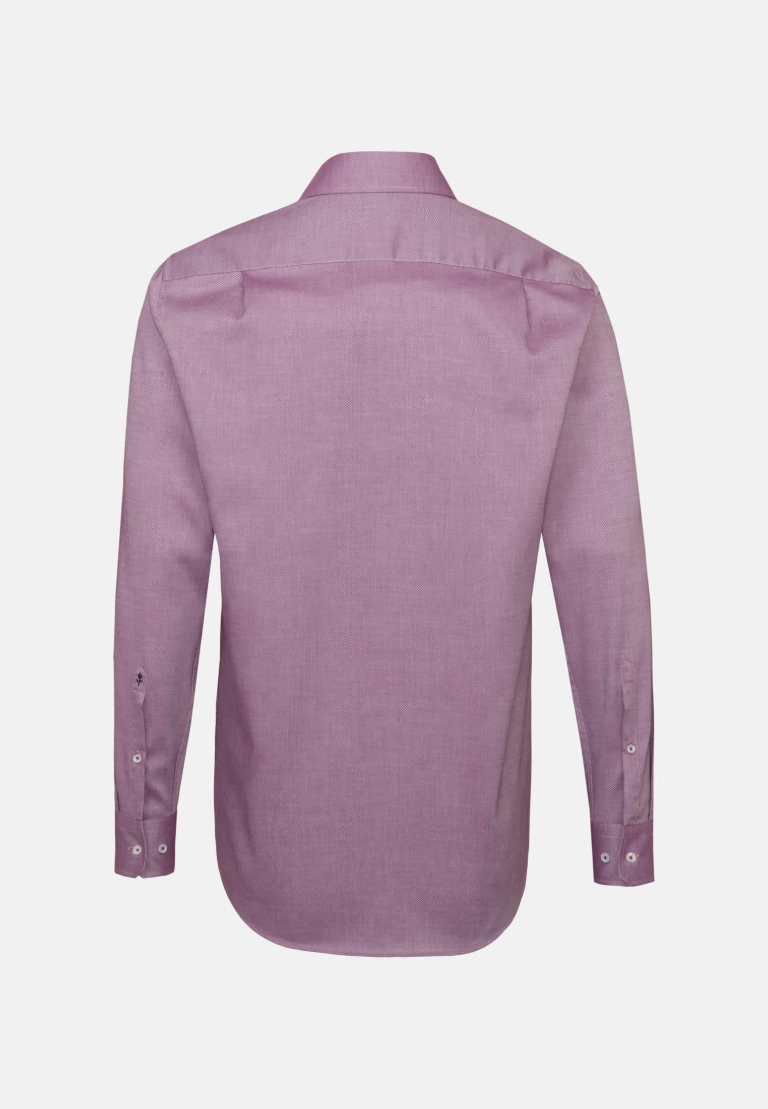 Bügelfreies Struktur Business Hemd in Regular mit Kentkragen in Rosa/Pink    Seidensticker Onlineshop