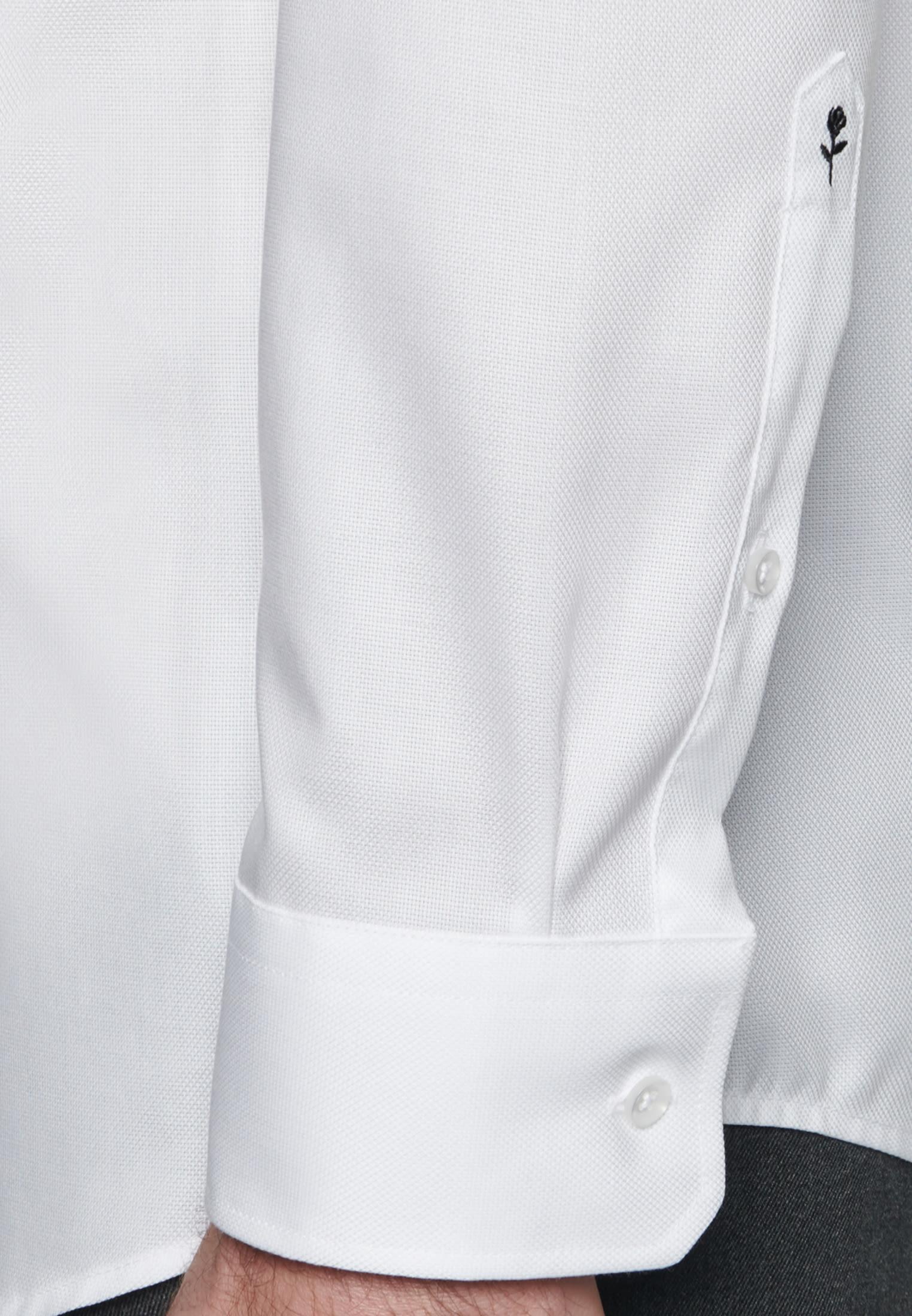 Non-iron Structure Business Shirt in Regular with Kent-Collar in White |  Seidensticker Onlineshop