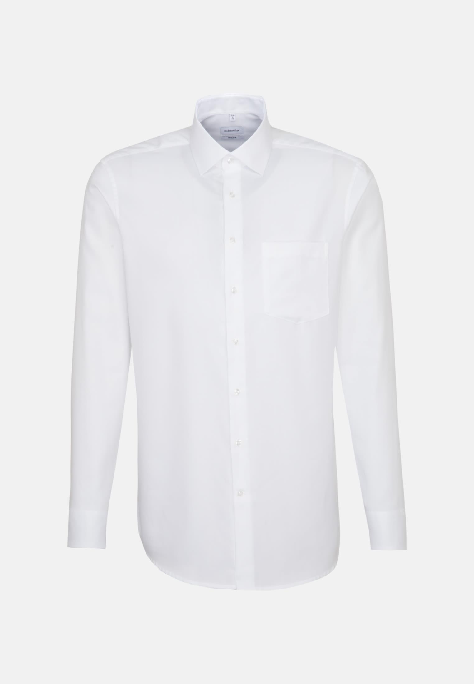 Bügelfreies Struktur Business Hemd in Regular mit Kentkragen in Weiß |  Seidensticker Onlineshop